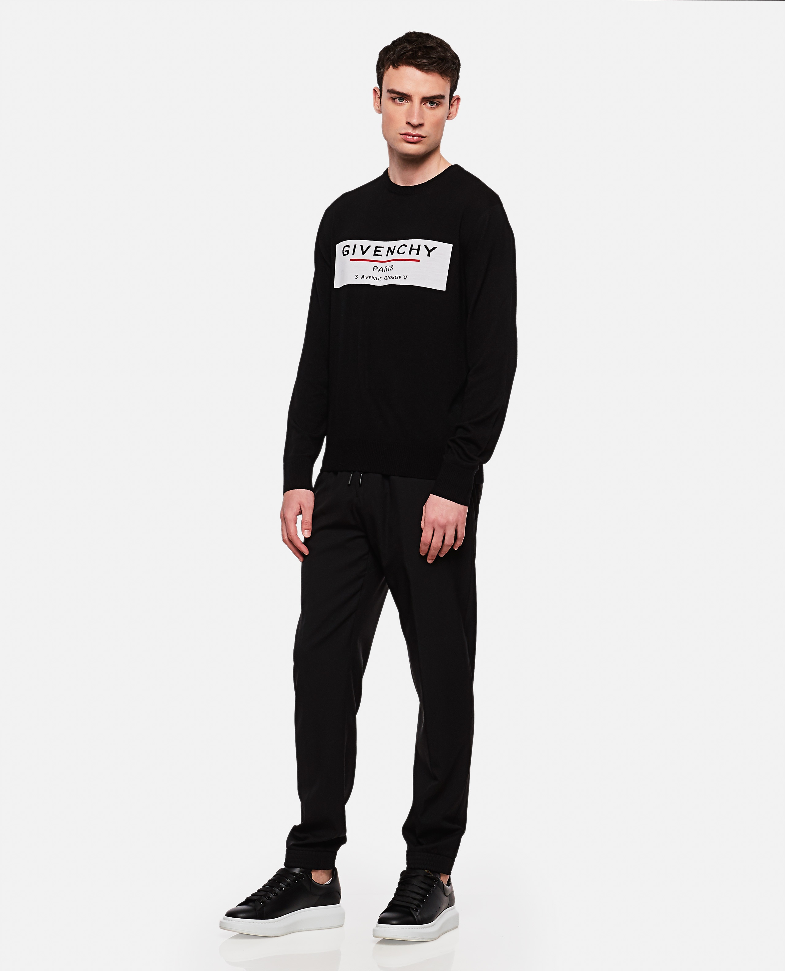 Crew neck wool pullover Men Givenchy 000226520033493 2