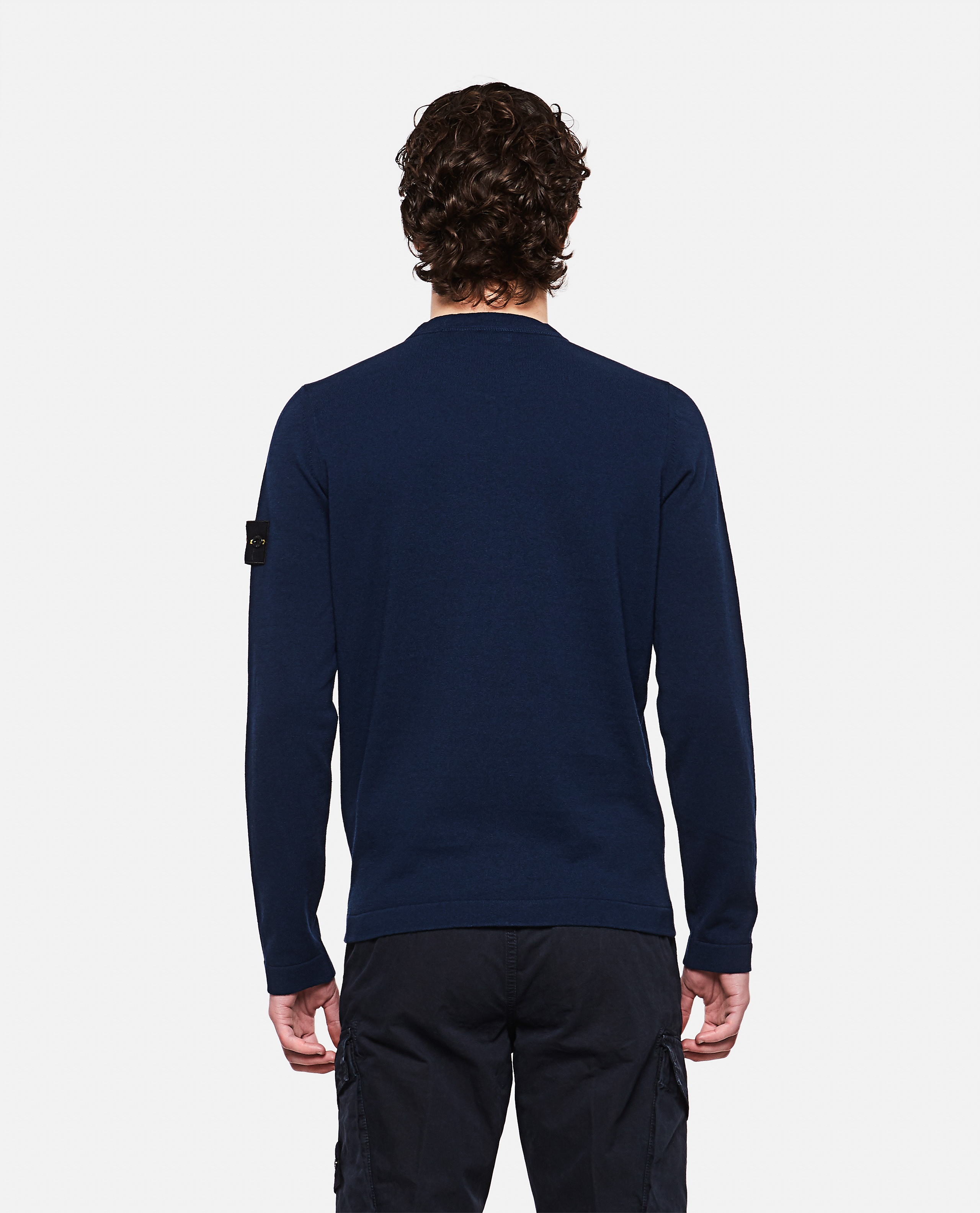 Sweater with logo patch Men Stone Island 000292730043109 3