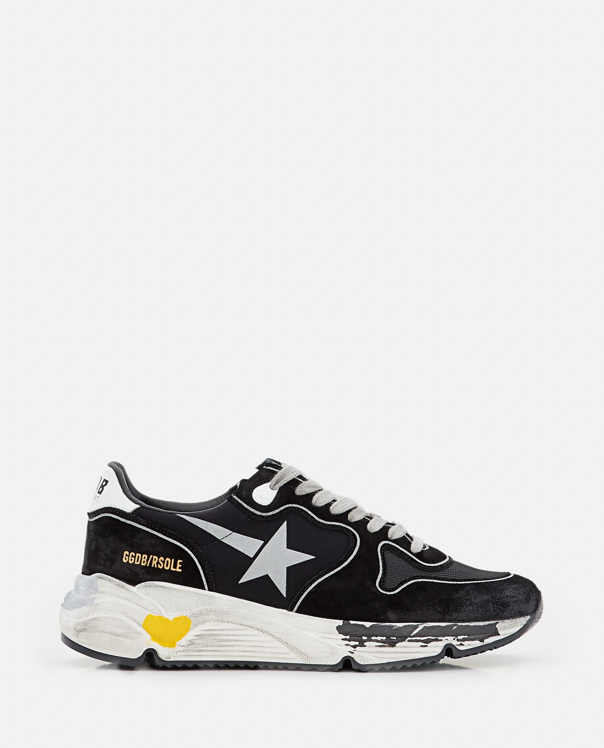 RUNNING SOLE LYCRA AND LEATHER SNEAKERS Women Golden Goose 000322020047097 1