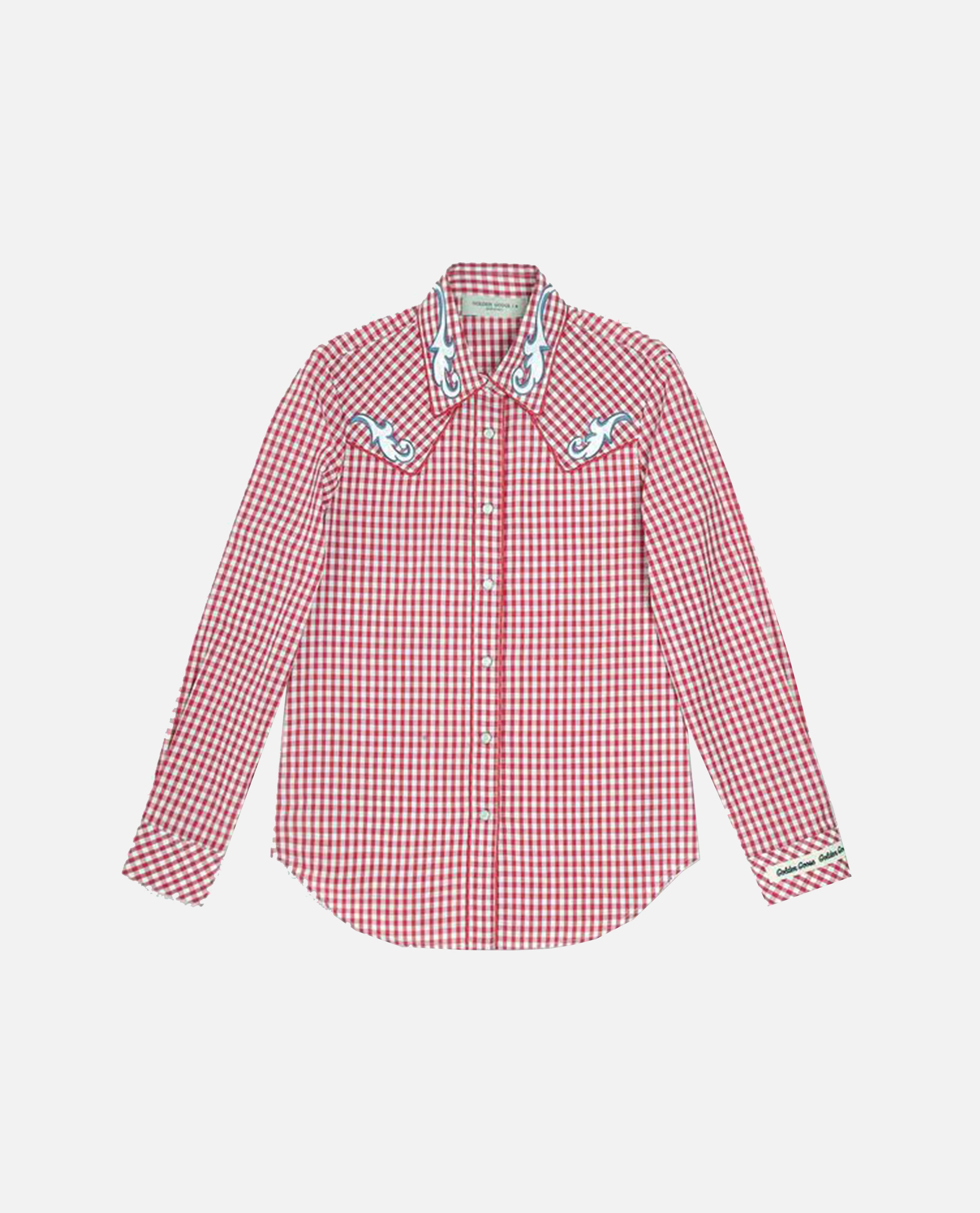 Betty shirt with white and red checks Women Golden Goose 000240750035656 1