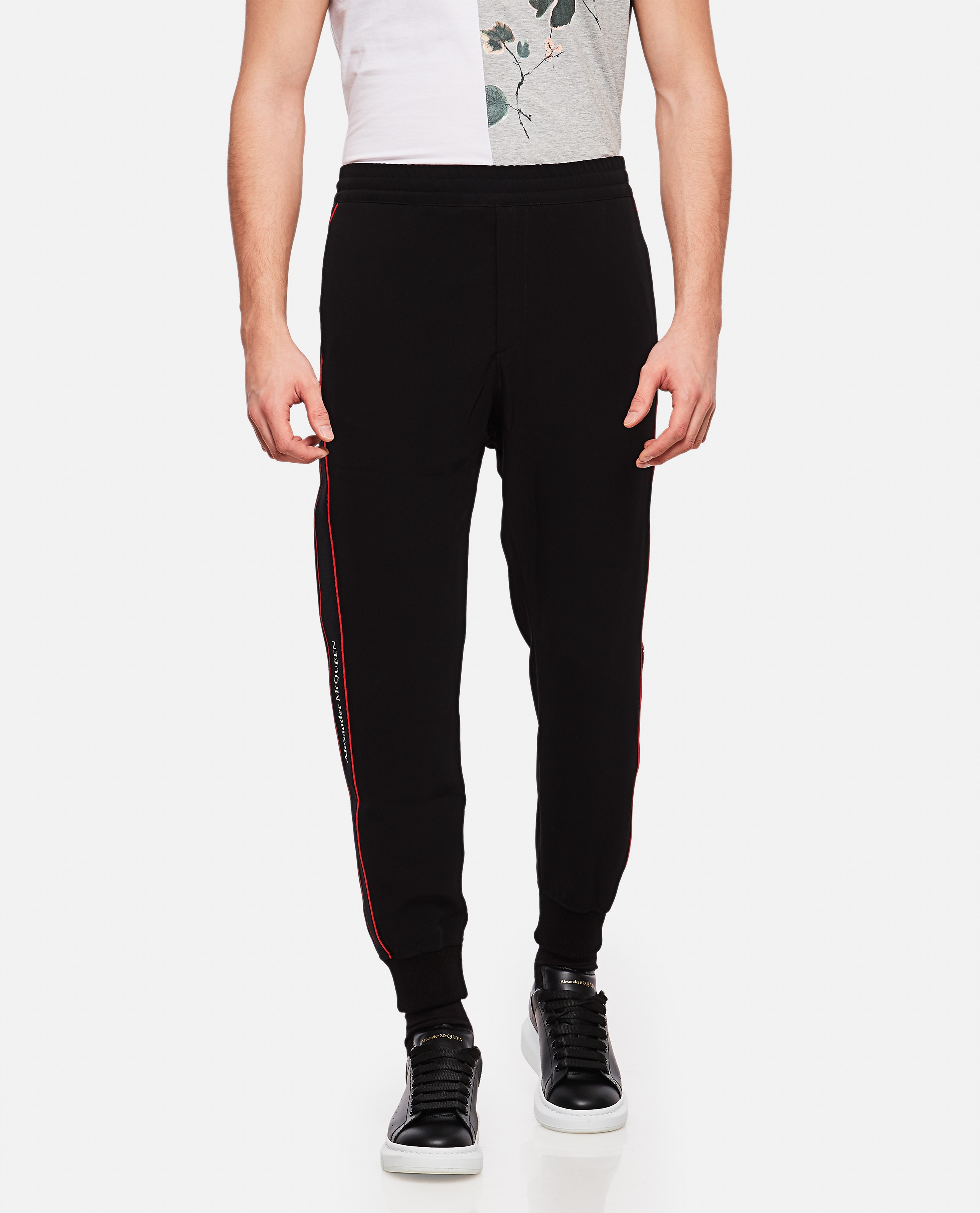 Sports trousers with side tape Men Alexander McQueen 000214950031908 1