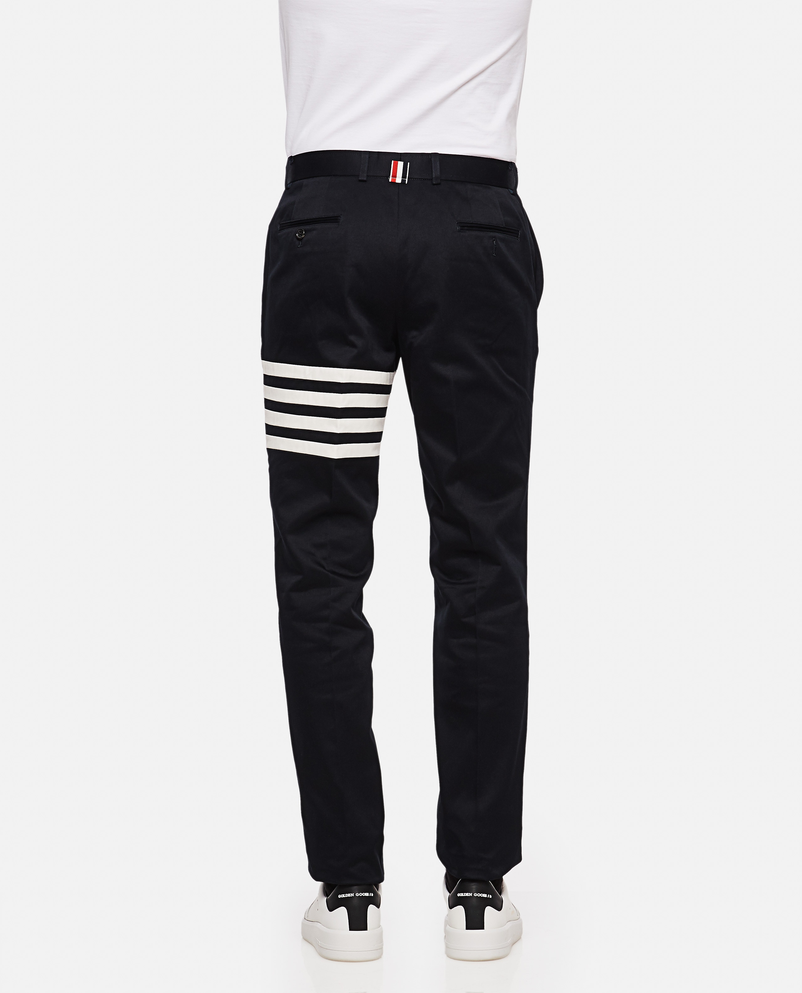 Cotton twill chino trousers Men Thom Browne 000110820016816 3