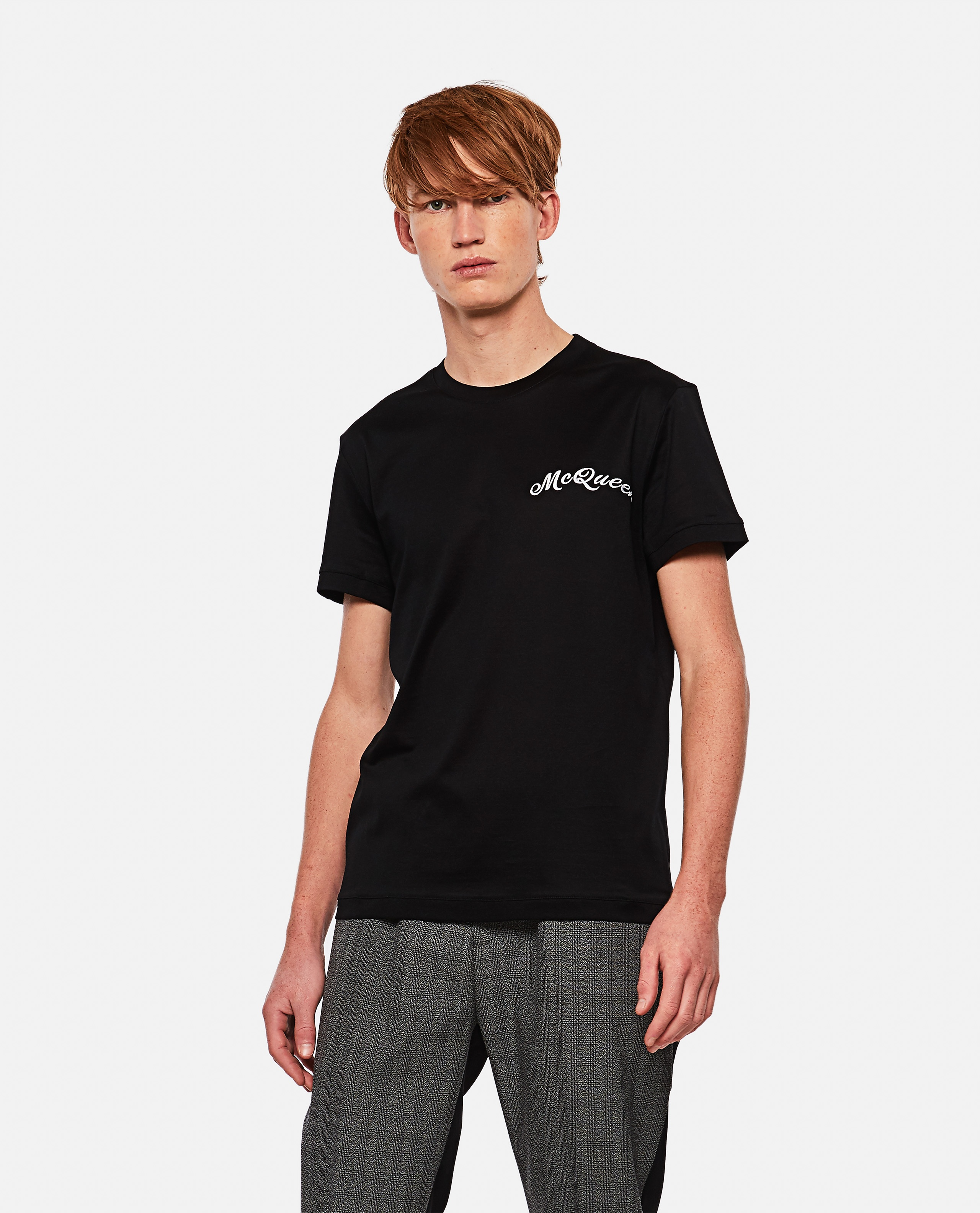 T-shirt with embroidered logo Men Alexander McQueen 000291060042850 1