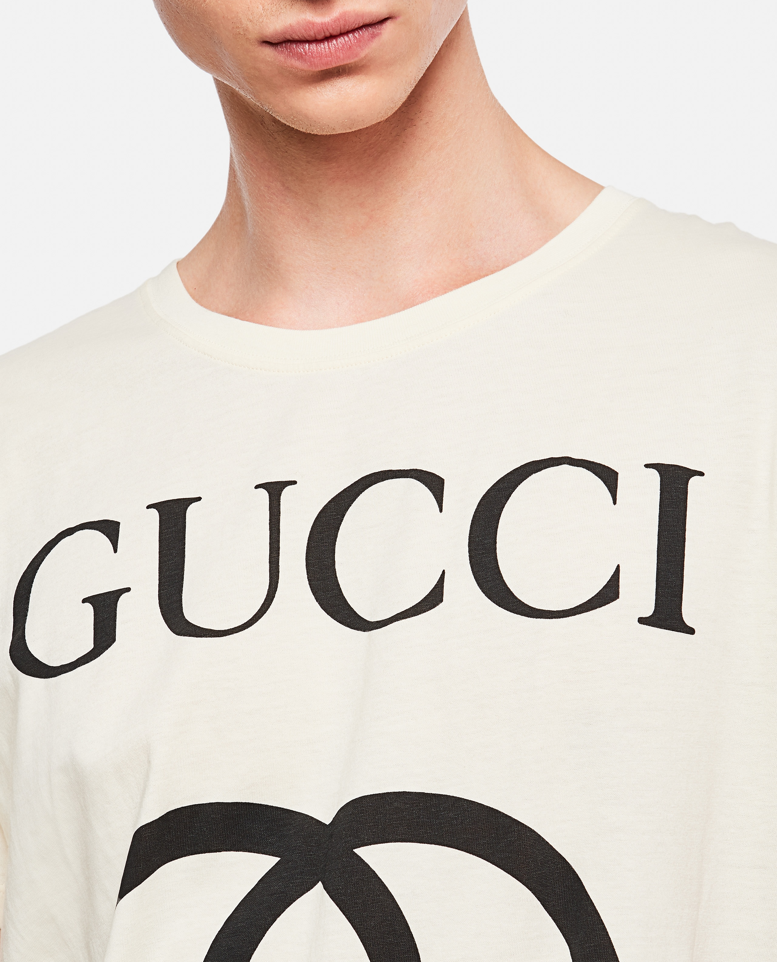 Oversized T-Shirt With Gg Print Men Gucci 000132400020117 5
