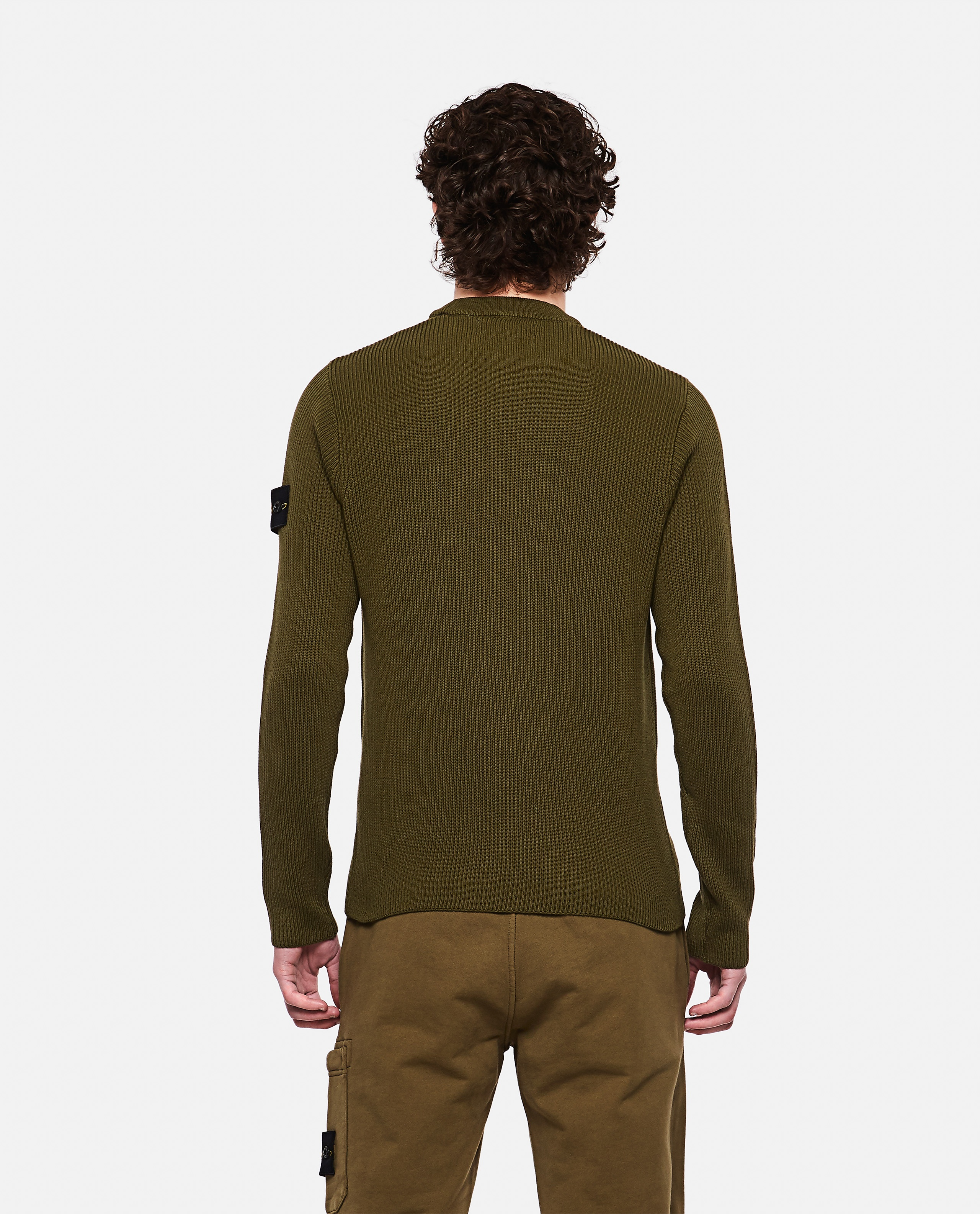 Sweater with logo patch Men Stone Island 000292760043119 3