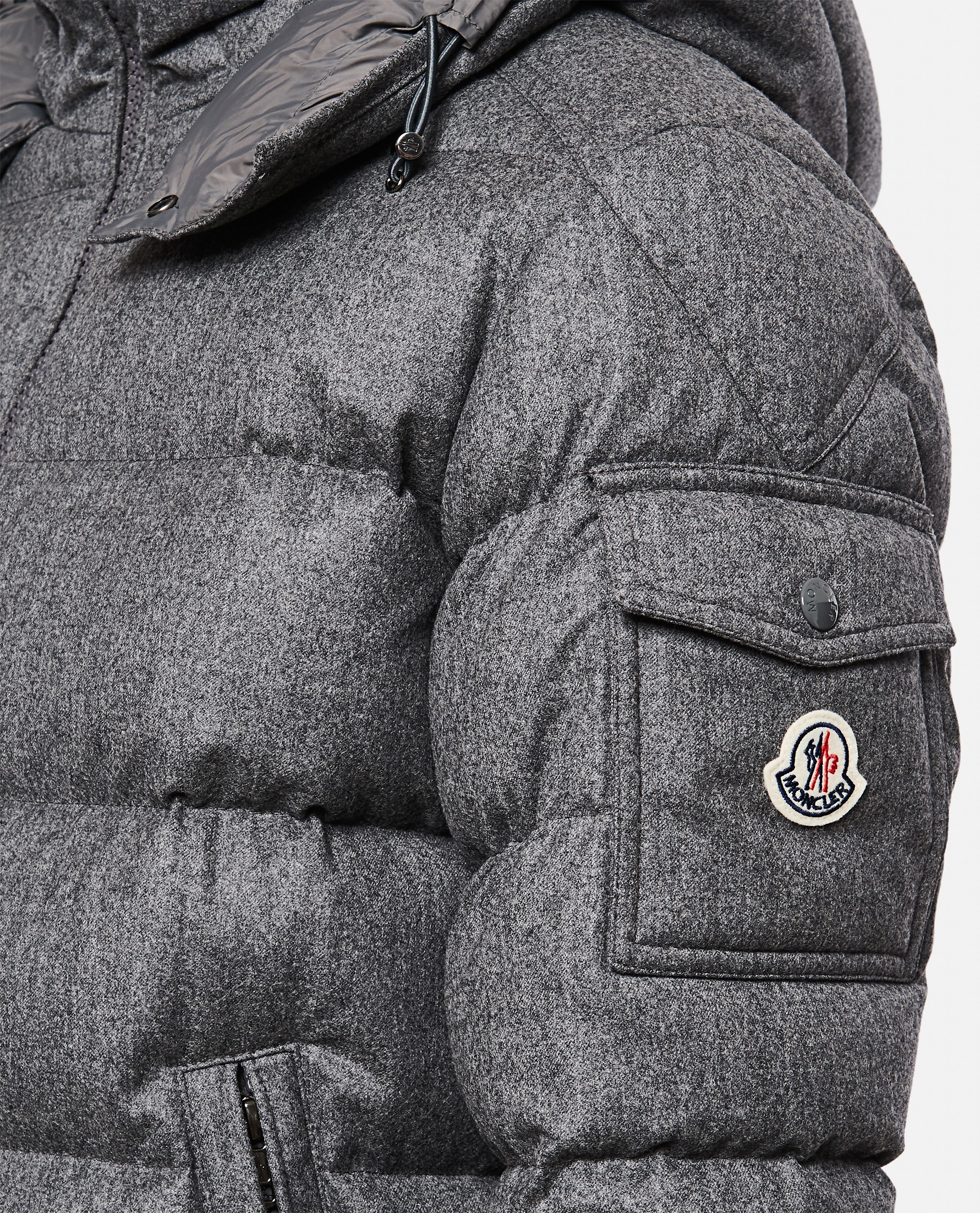 Down jacket with application Men Moncler 000271310039971 4