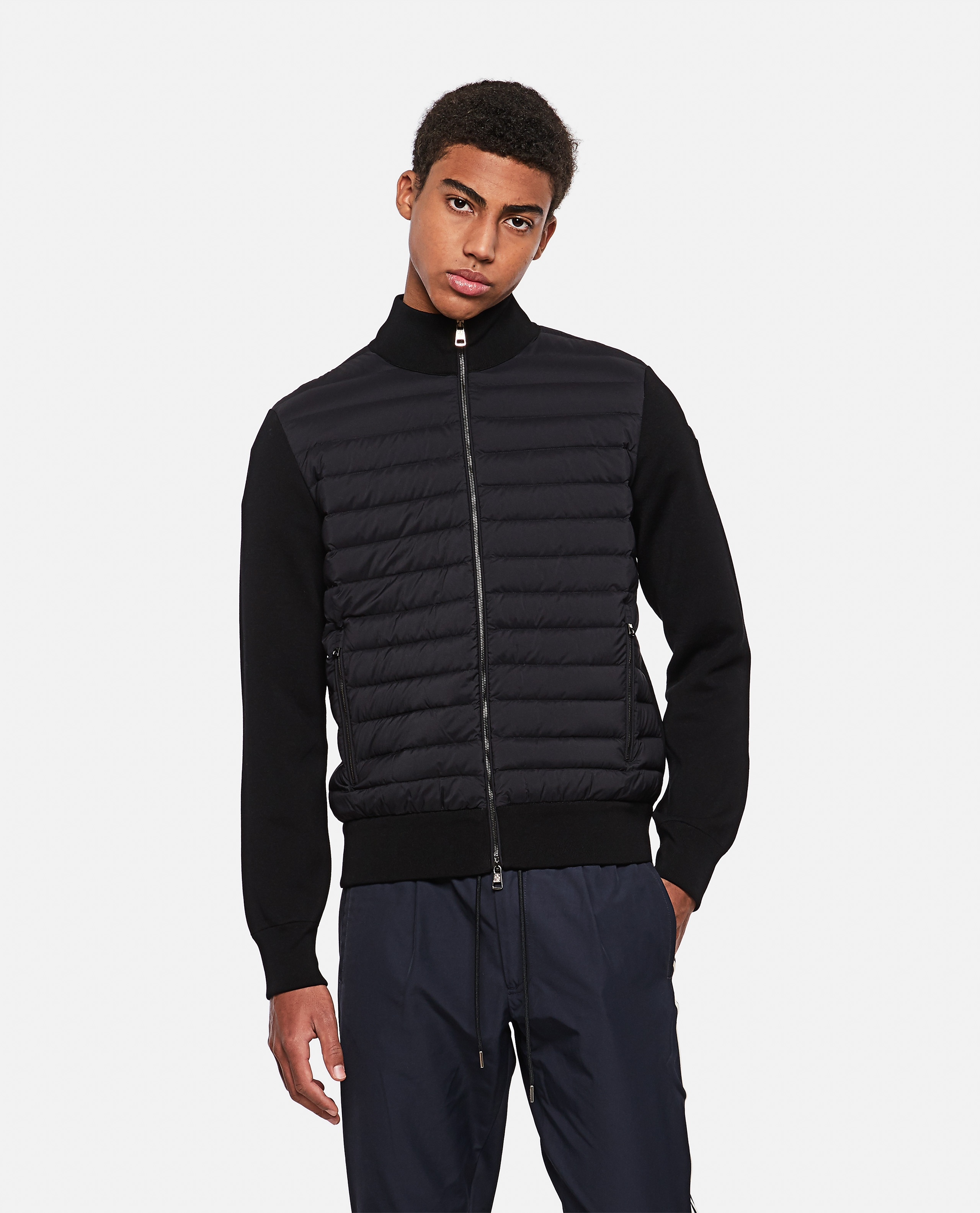 Tricot cardigan with padded detail Men Moncler 000315490046237 1