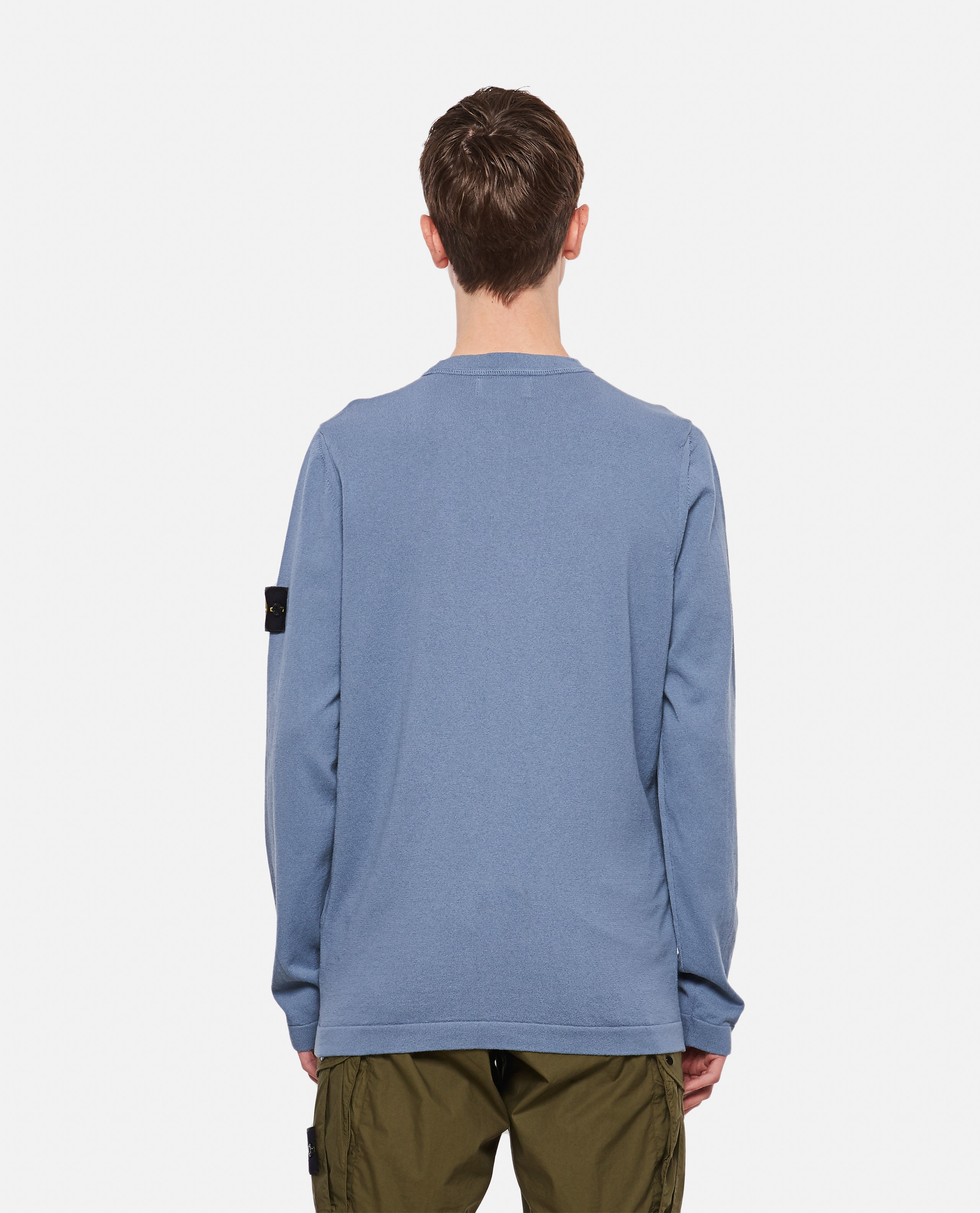 Cotton sweater with logo patch Men Stone Island 000292730043110 3