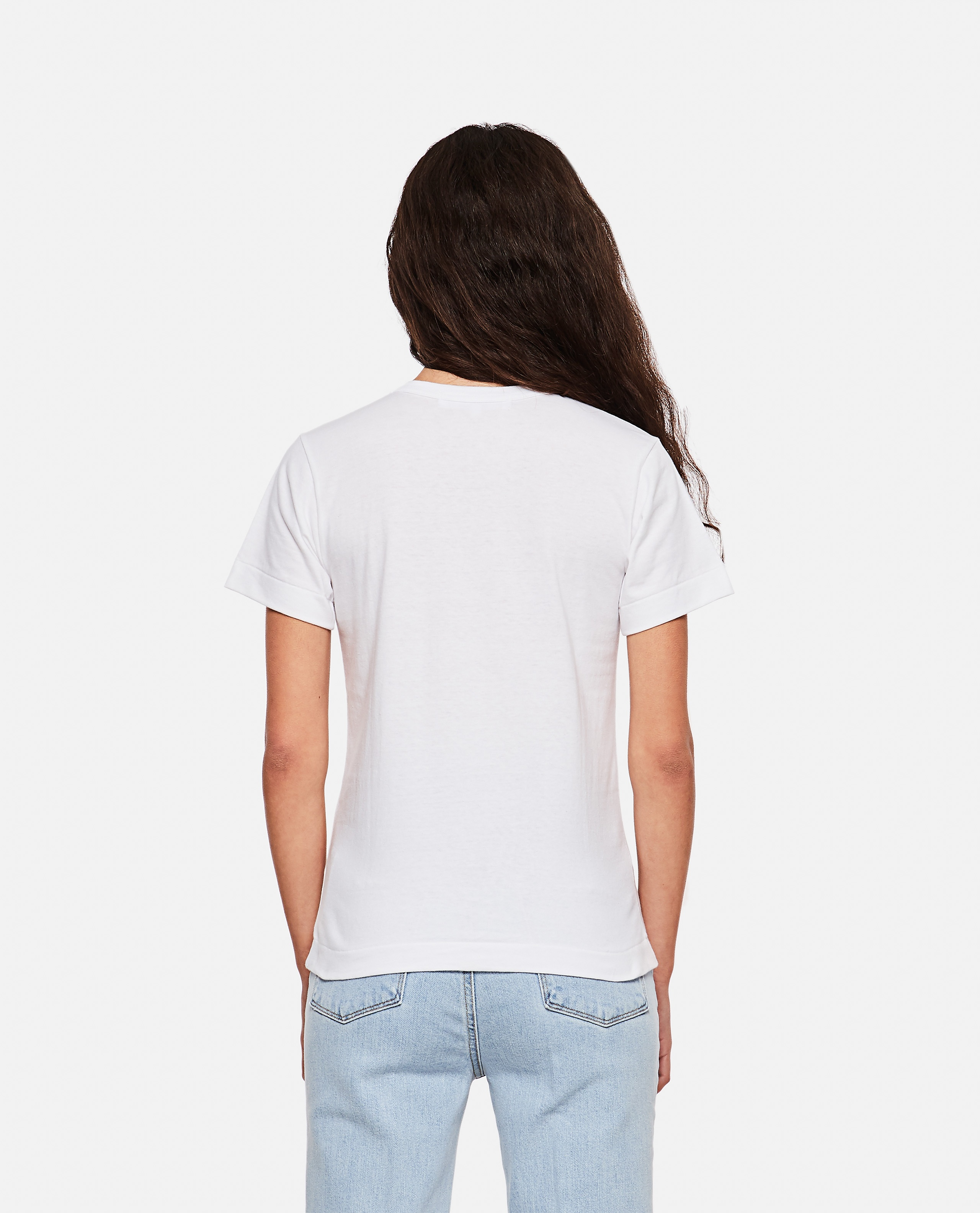 T-shirt with logo print Women Comme des Garcons Play 000267320039445 3