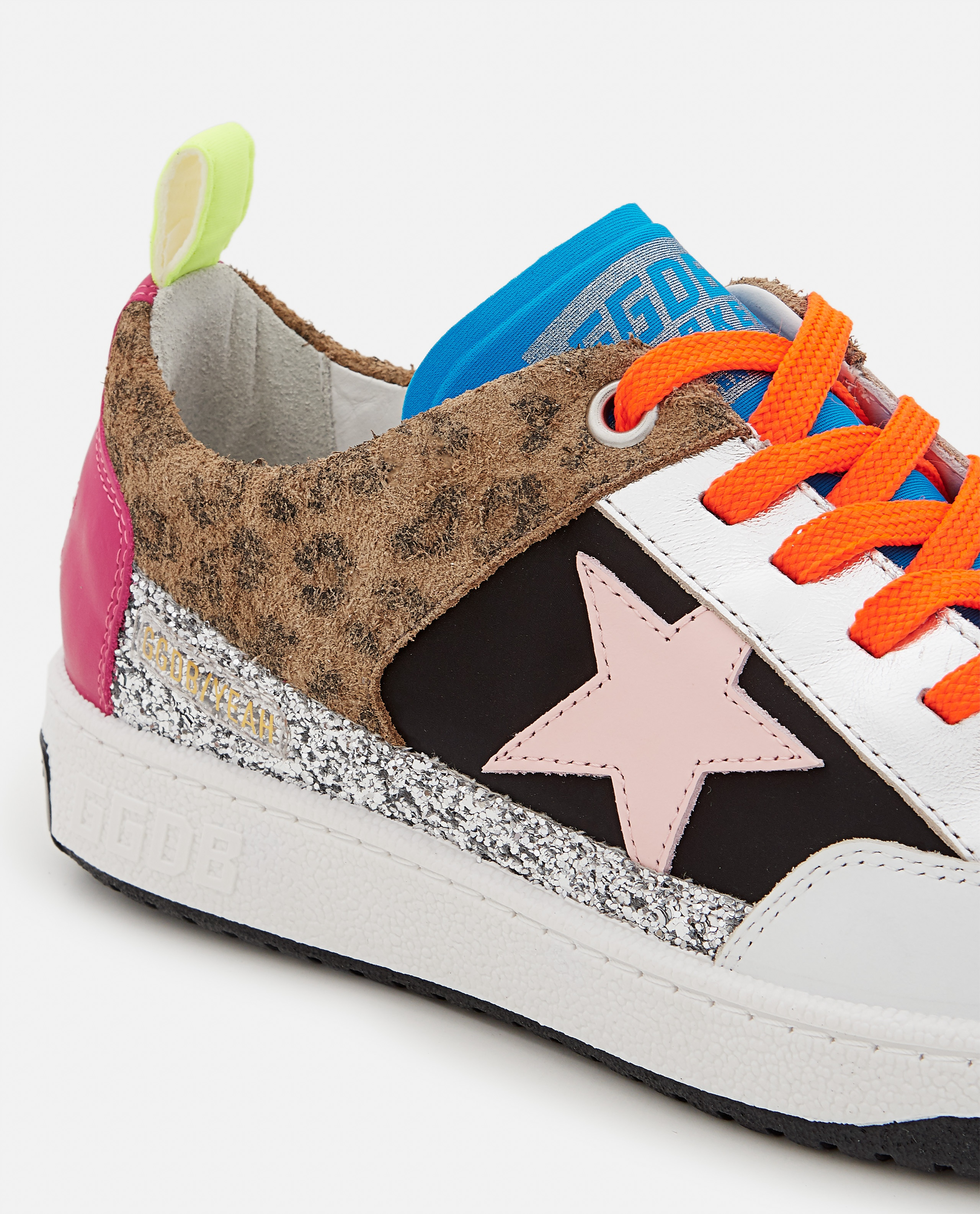 YEAH NYLON AND LEATHER SNEAKERS  Women Golden Goose 000322380047133 4