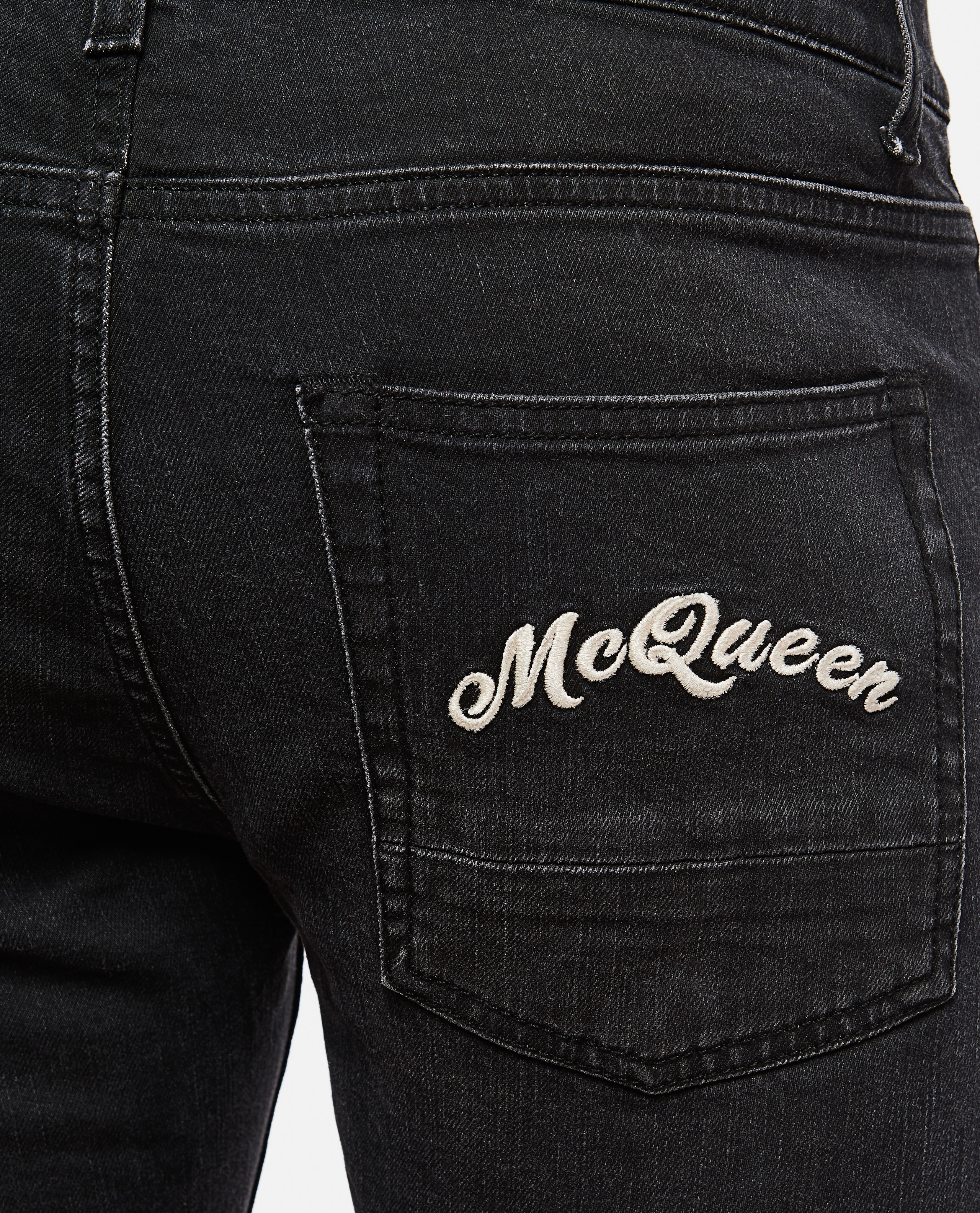 Slim fit jeans with embroidery Men Alexander McQueen 000179840026772 5