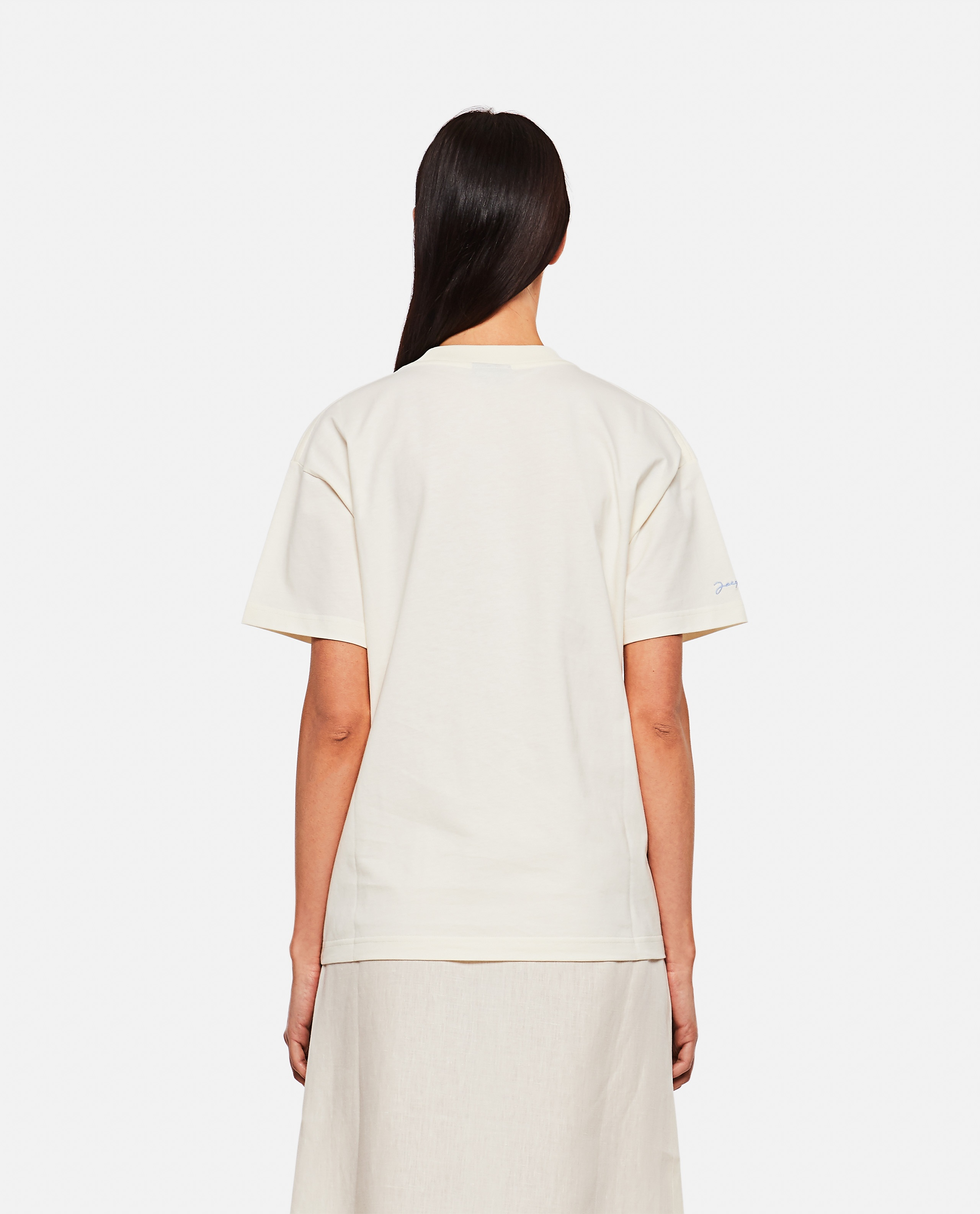 T-shirt in cotone con stampa Donna Jacquemus 000302330044401 3