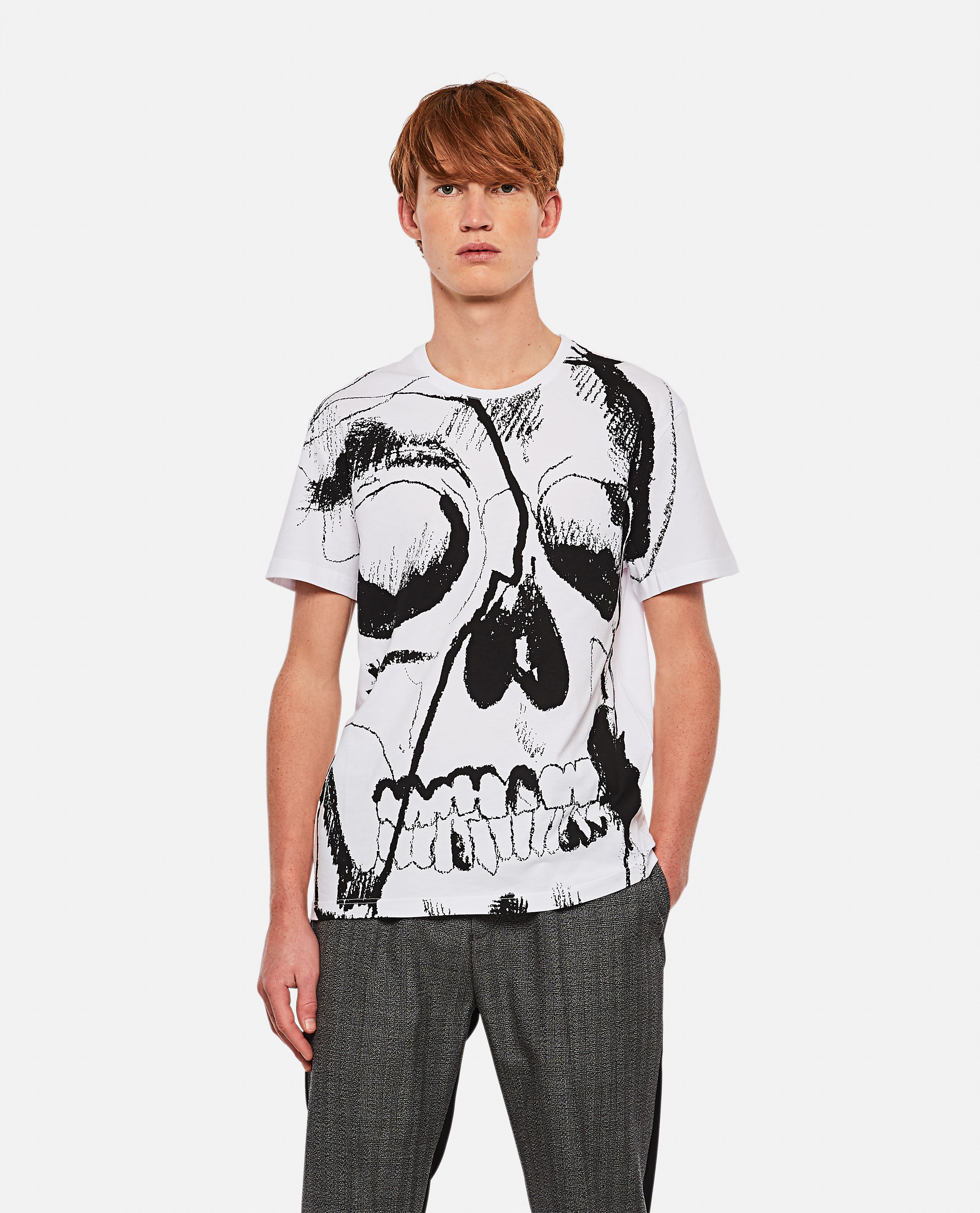 "T-shirt with ""Skull"" print Men Alexander McQueen 000268790039631 1"