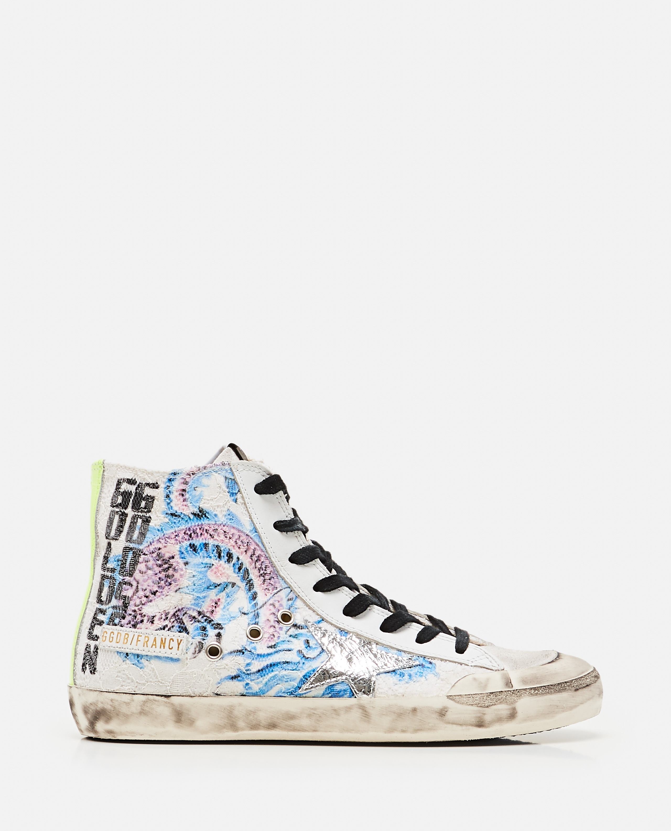 Francy Lace sneakers with Japanese Crackle` Star print Donna Golden Goose 000286860042310 1
