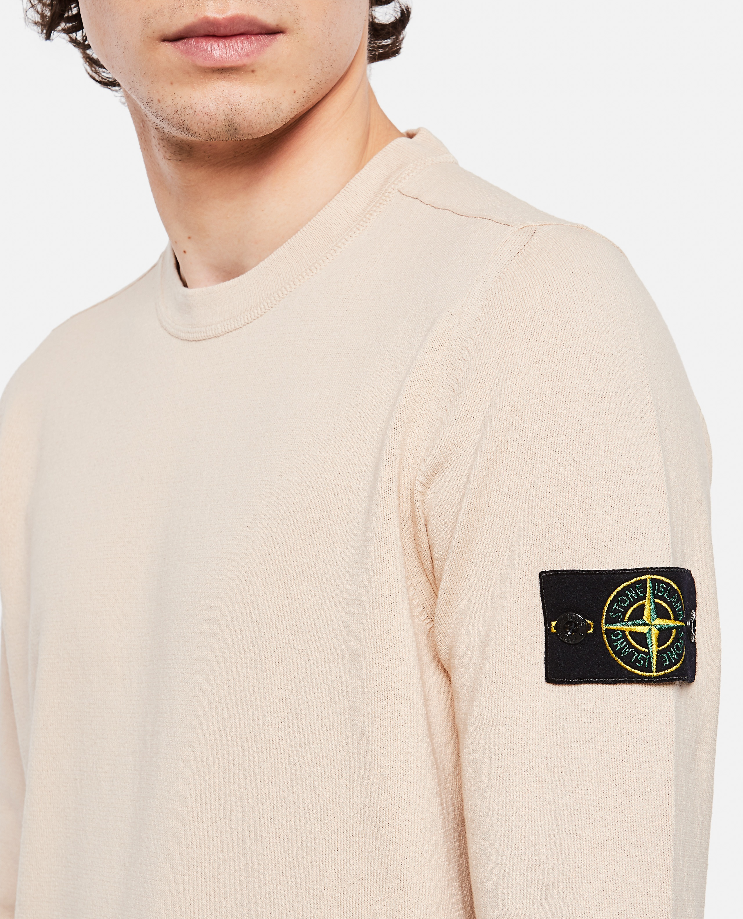 Sweater with logo patch Men Stone Island 000292730043111 4