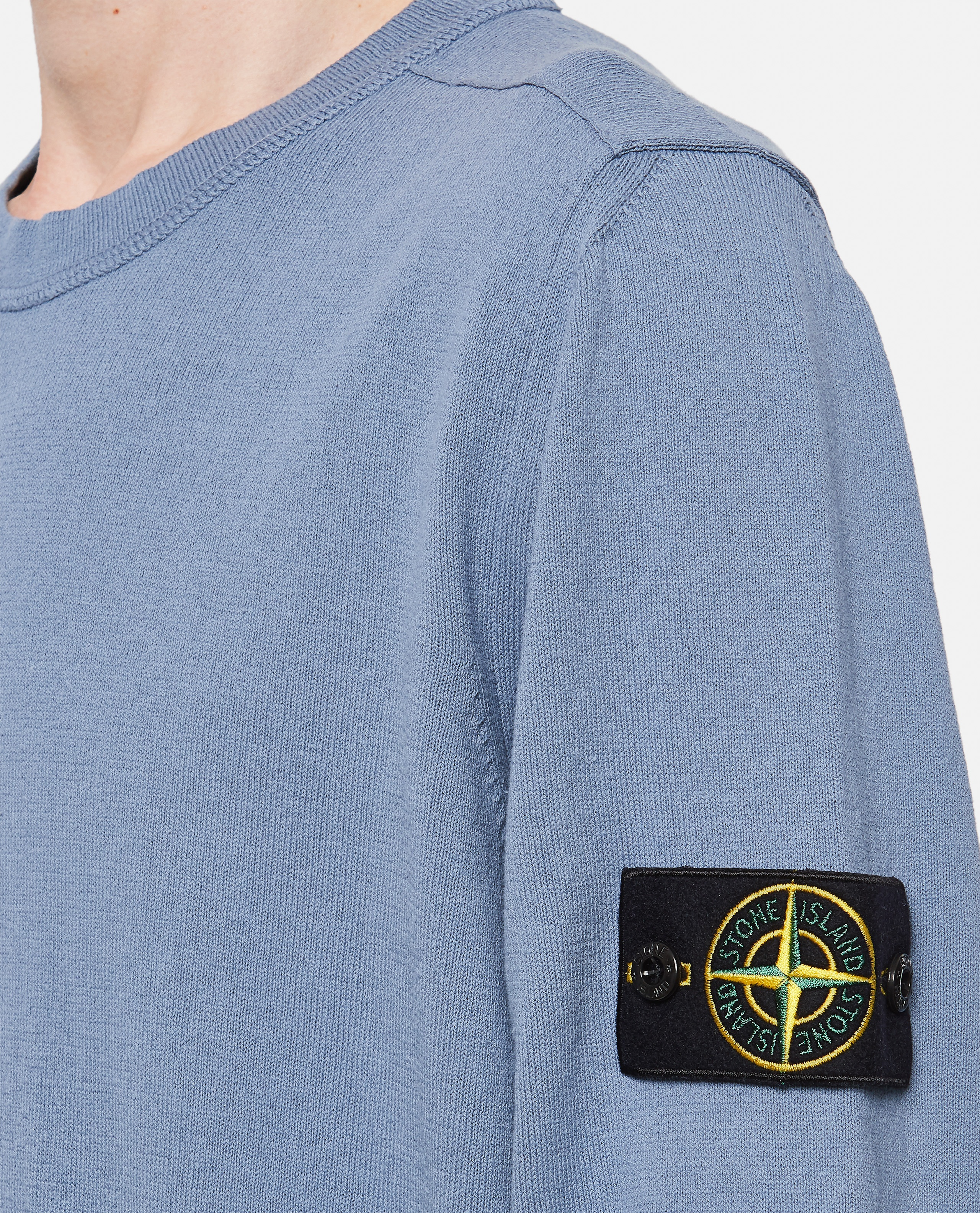 Cotton sweater with logo patch Men Stone Island 000292730043110 4