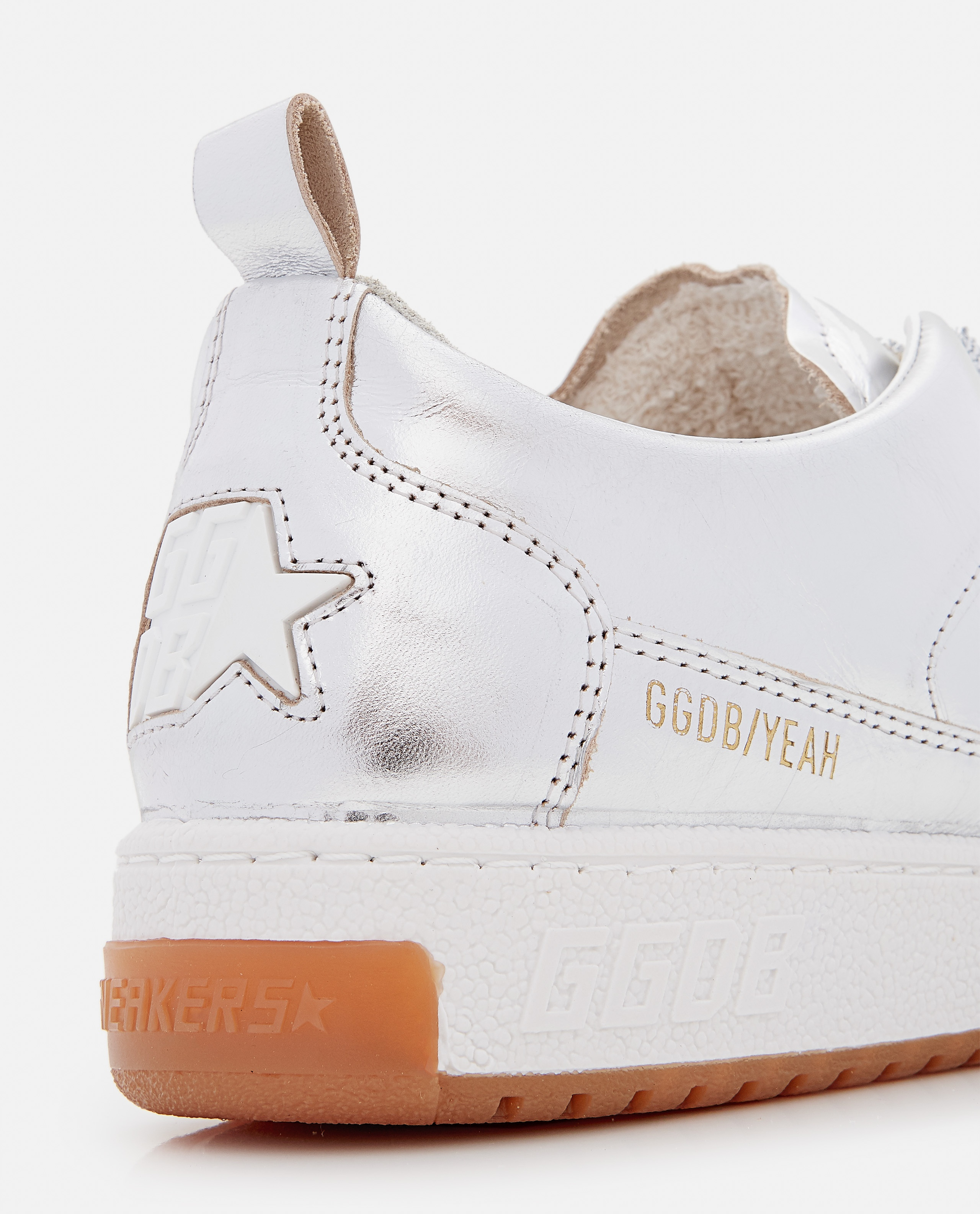 YEAH LAMINATED LEATHER SNEAKERS Women Golden Goose 000322260047121 4
