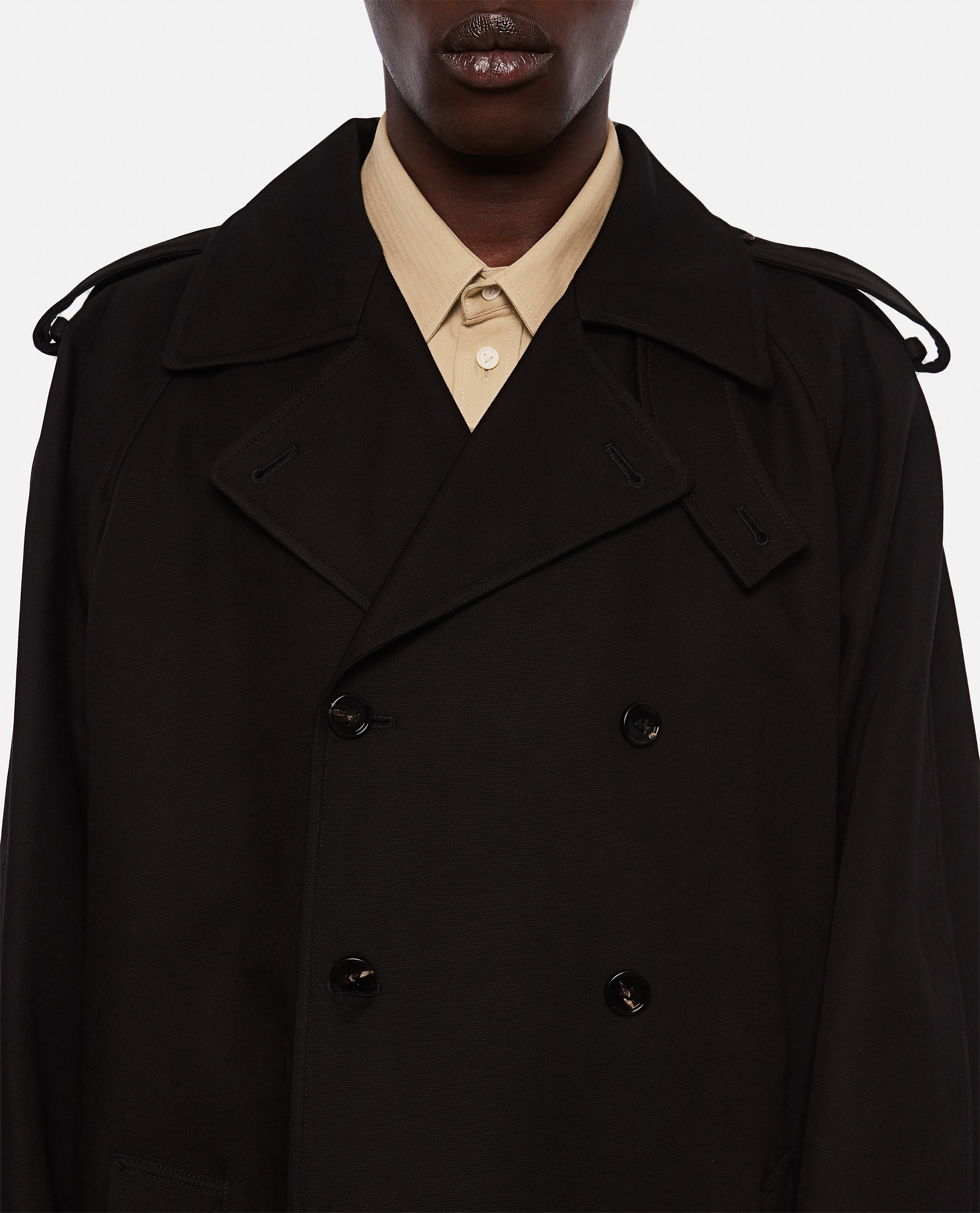 Double-breasted trench coat Men Bottega Veneta 000291630042948 4