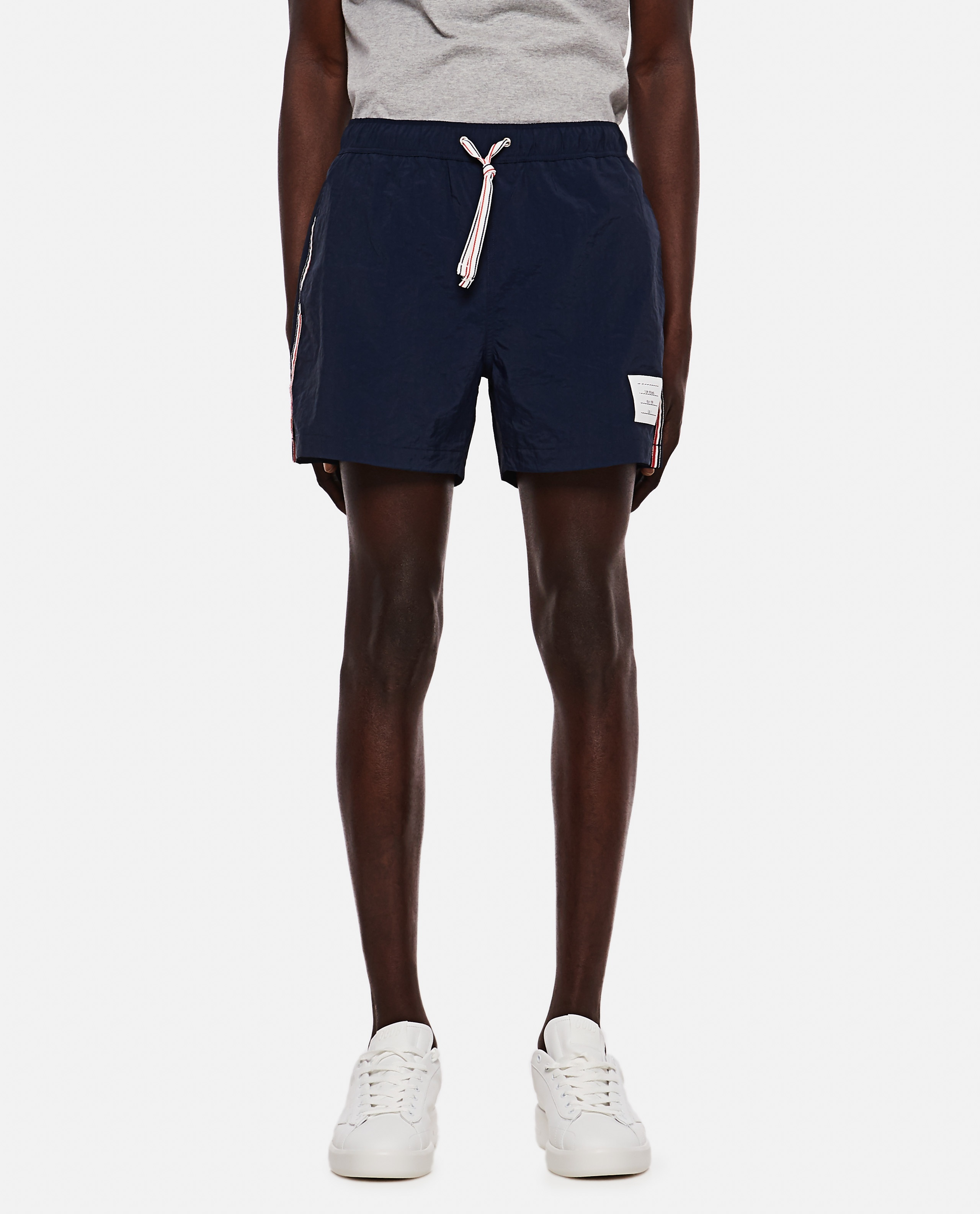 Thom Browne boxer costume in nylon with logo Men Thom Browne 000294780043363 1