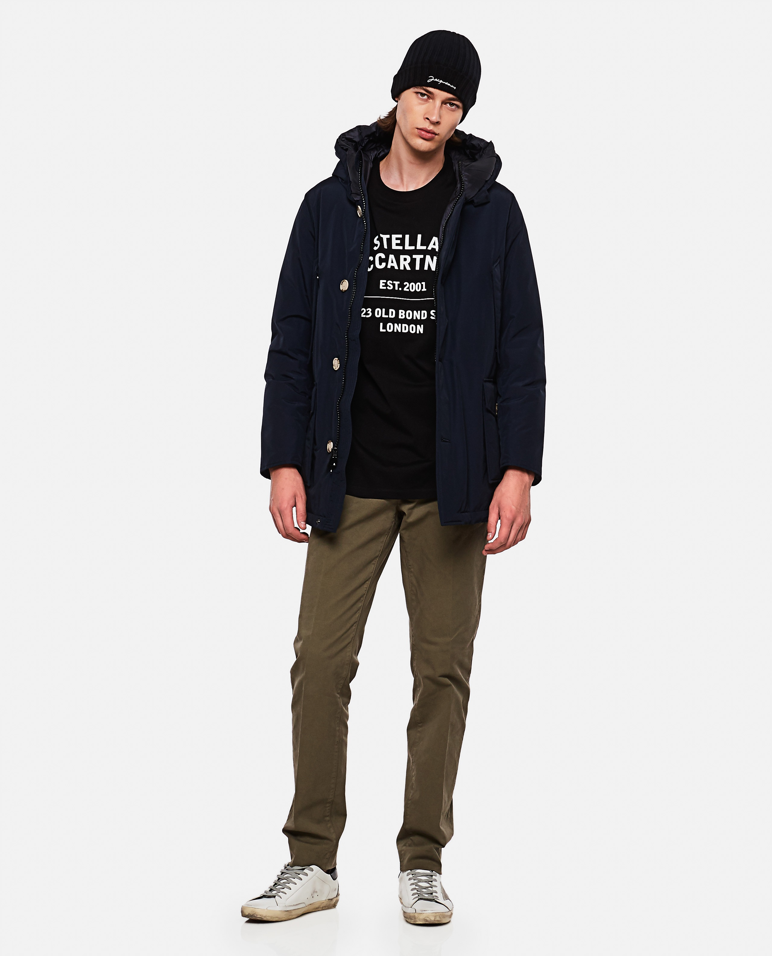 Padded coat with hood  Men Woolrich 000279250041179 2