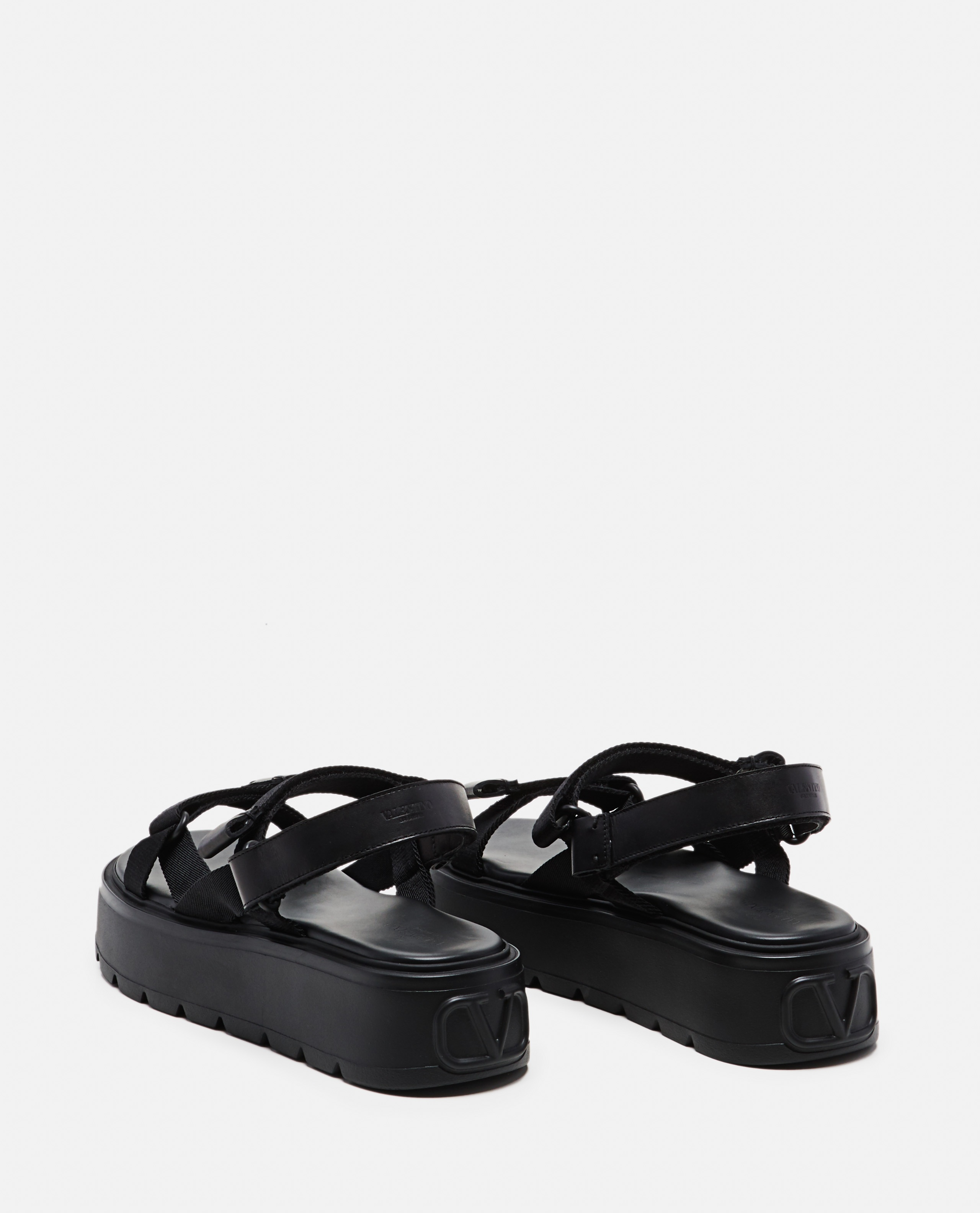 Ribbon and leather Uniqueform Valentino Garavani sandal  Men Valentino 000294940043385 3