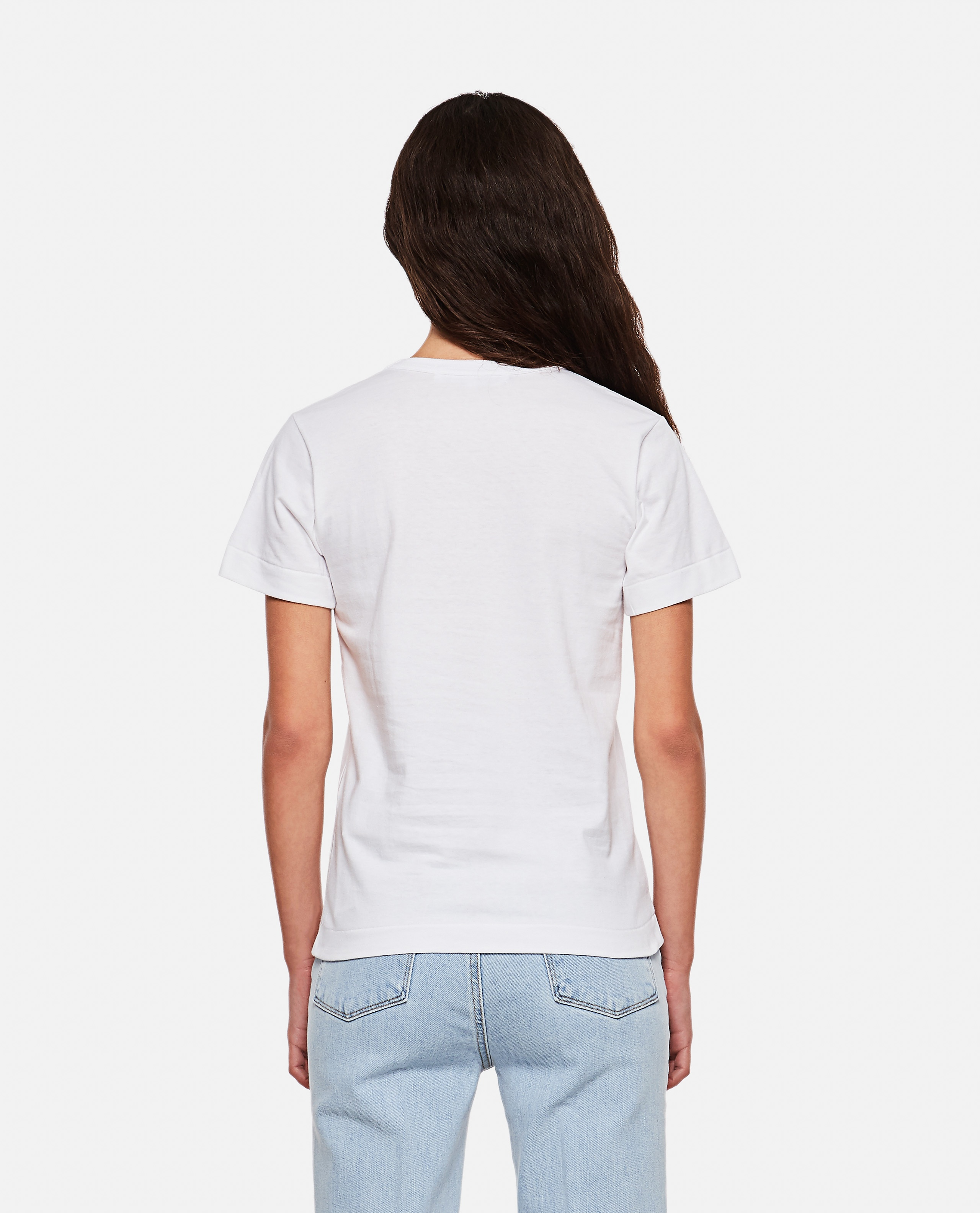 T-shirt con stampa logo Donna Comme des Garcons Play 000107000016296 3
