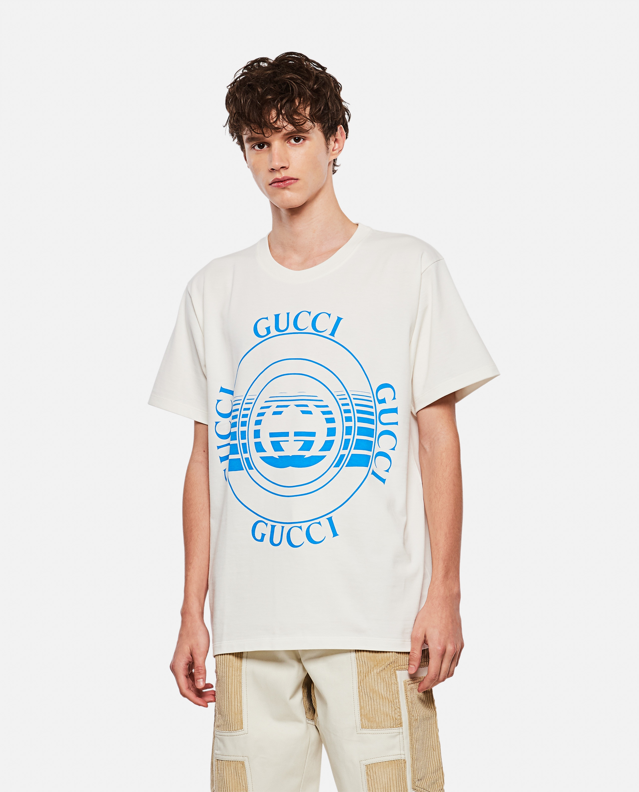 T-shirt with Gucci disco print Men Gucci 000267600039481 1