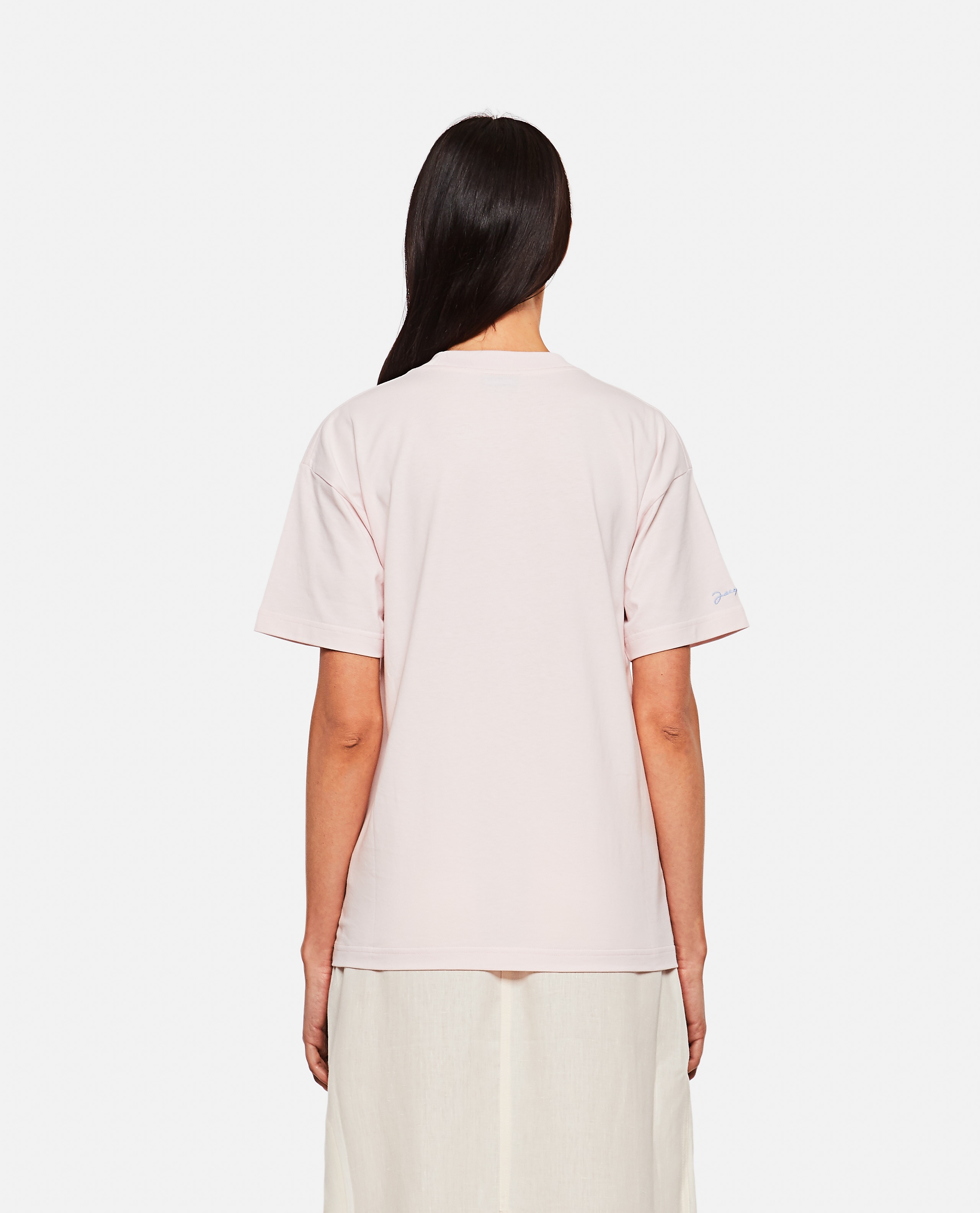 T-shirt in cotone con stampa Donna Jacquemus 000302340044402 3
