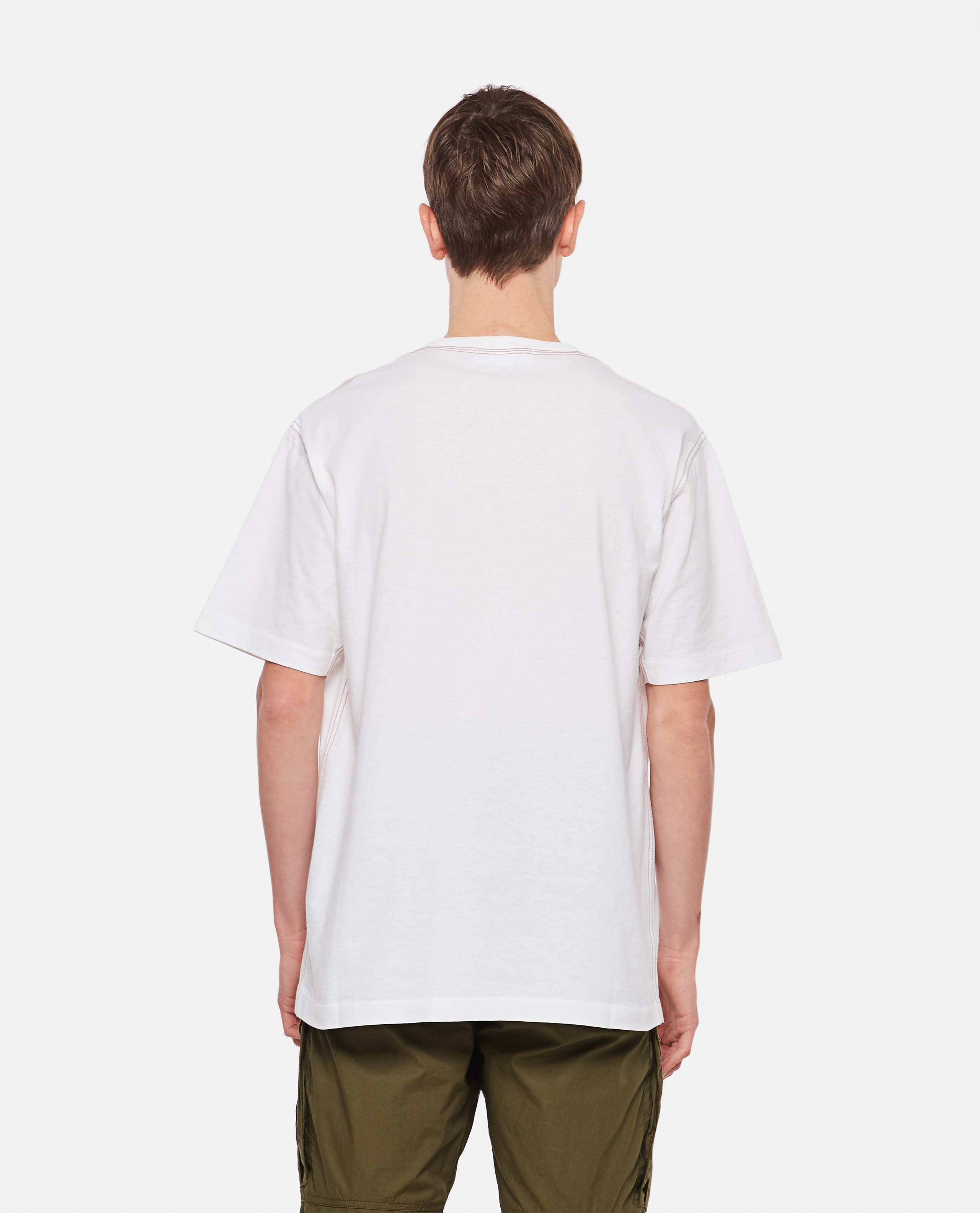 Cotton T-Shirt with embroidery Men Stone Island 000292710043106 3