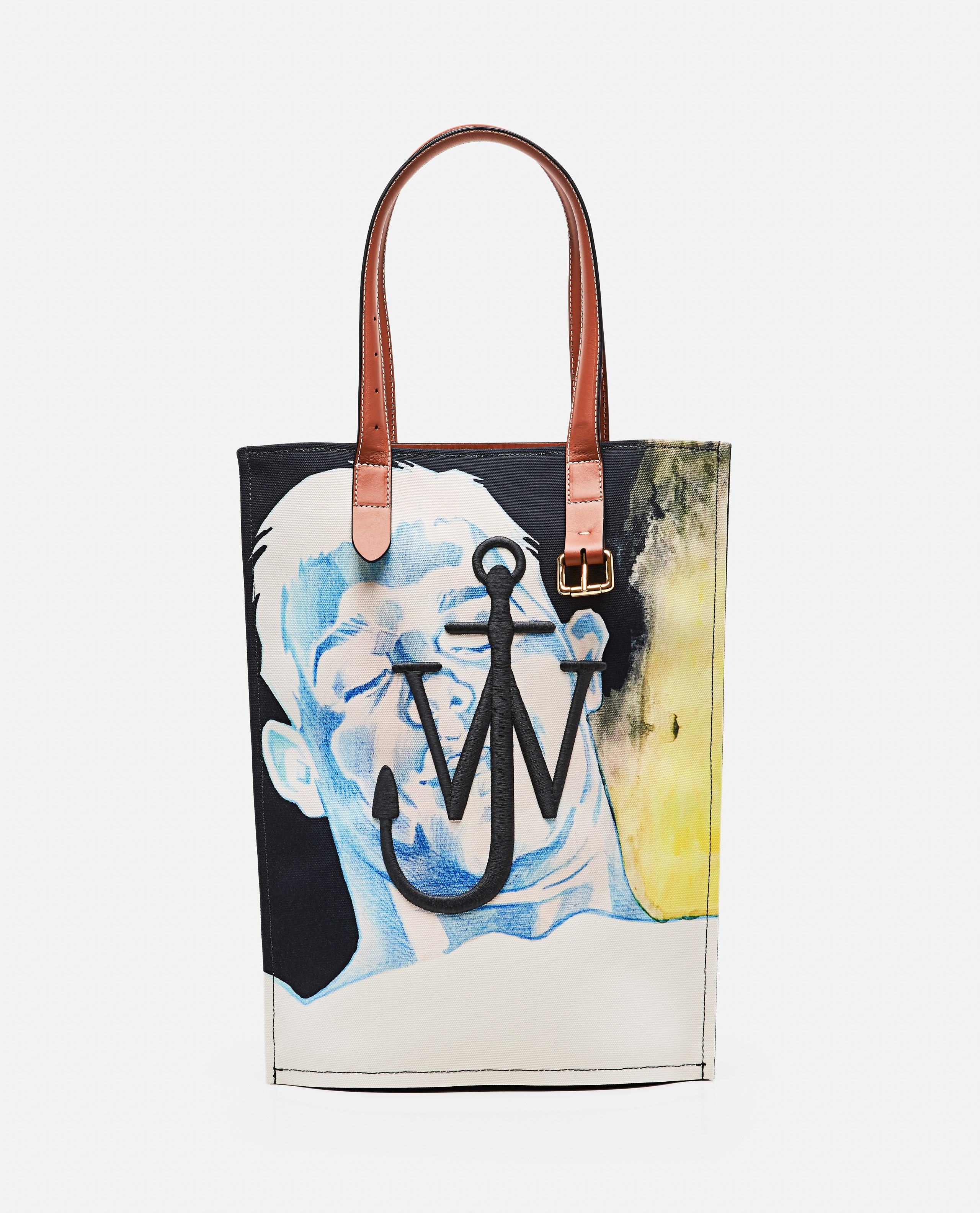Tote bag printed with embroidered logo Men J.W. Anderson 000293310043196 1
