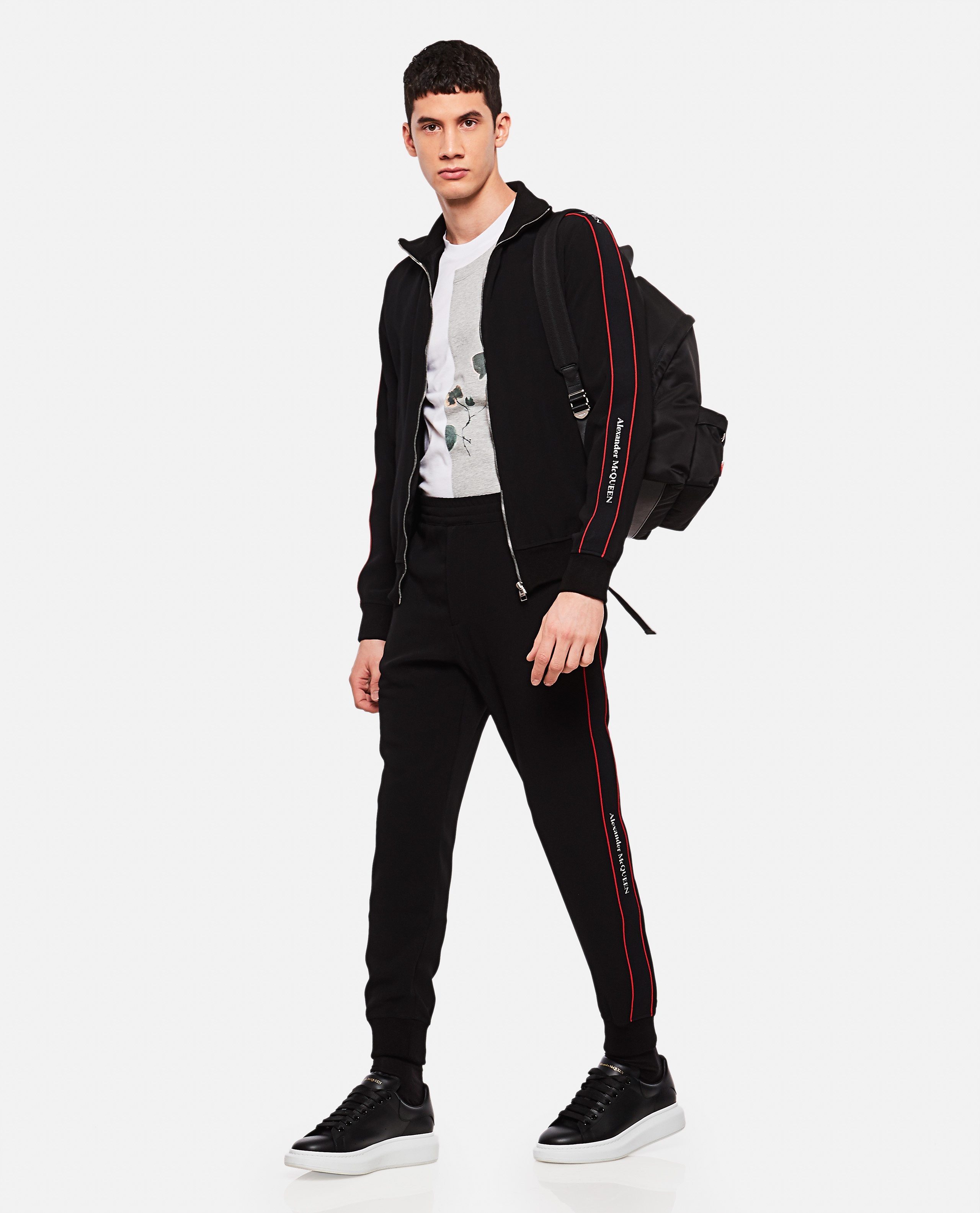 Sports trousers with side tape Men Alexander McQueen 000214950031908 2