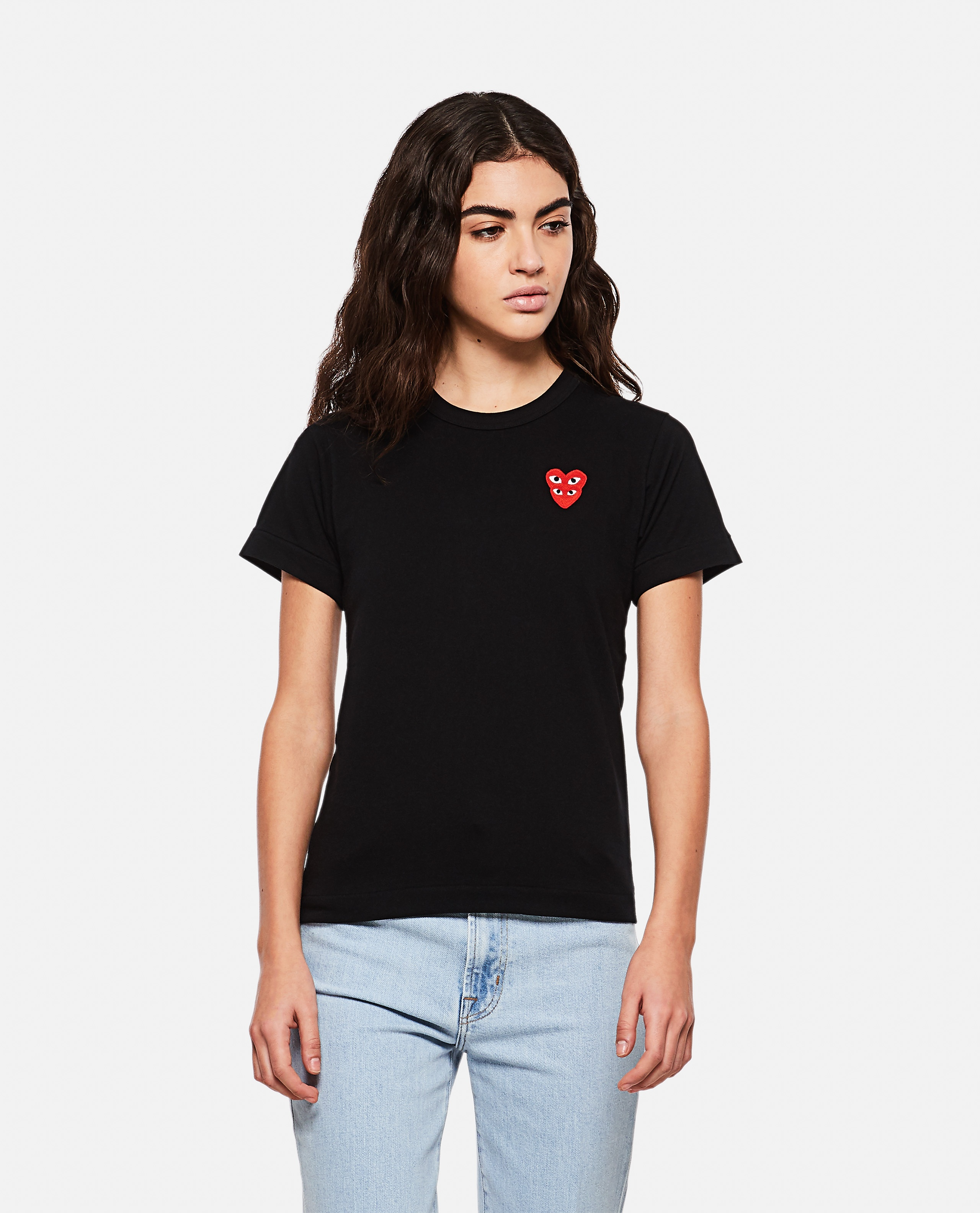 T-shirt with hearts Women Comme des Garcons Play 000267290039439 1