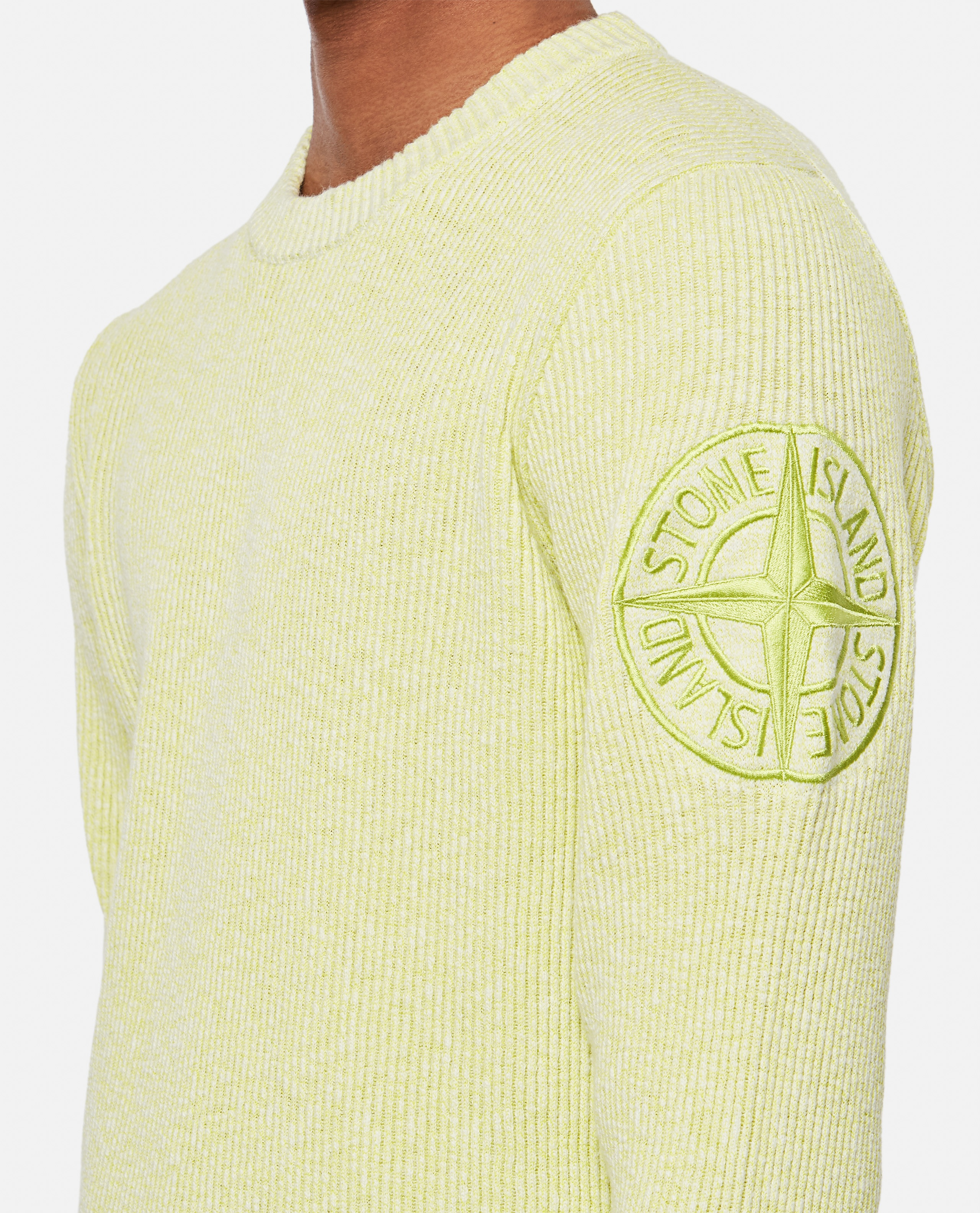 Ribbed sweater with logo patch Men Stone Island 000292750043124 4