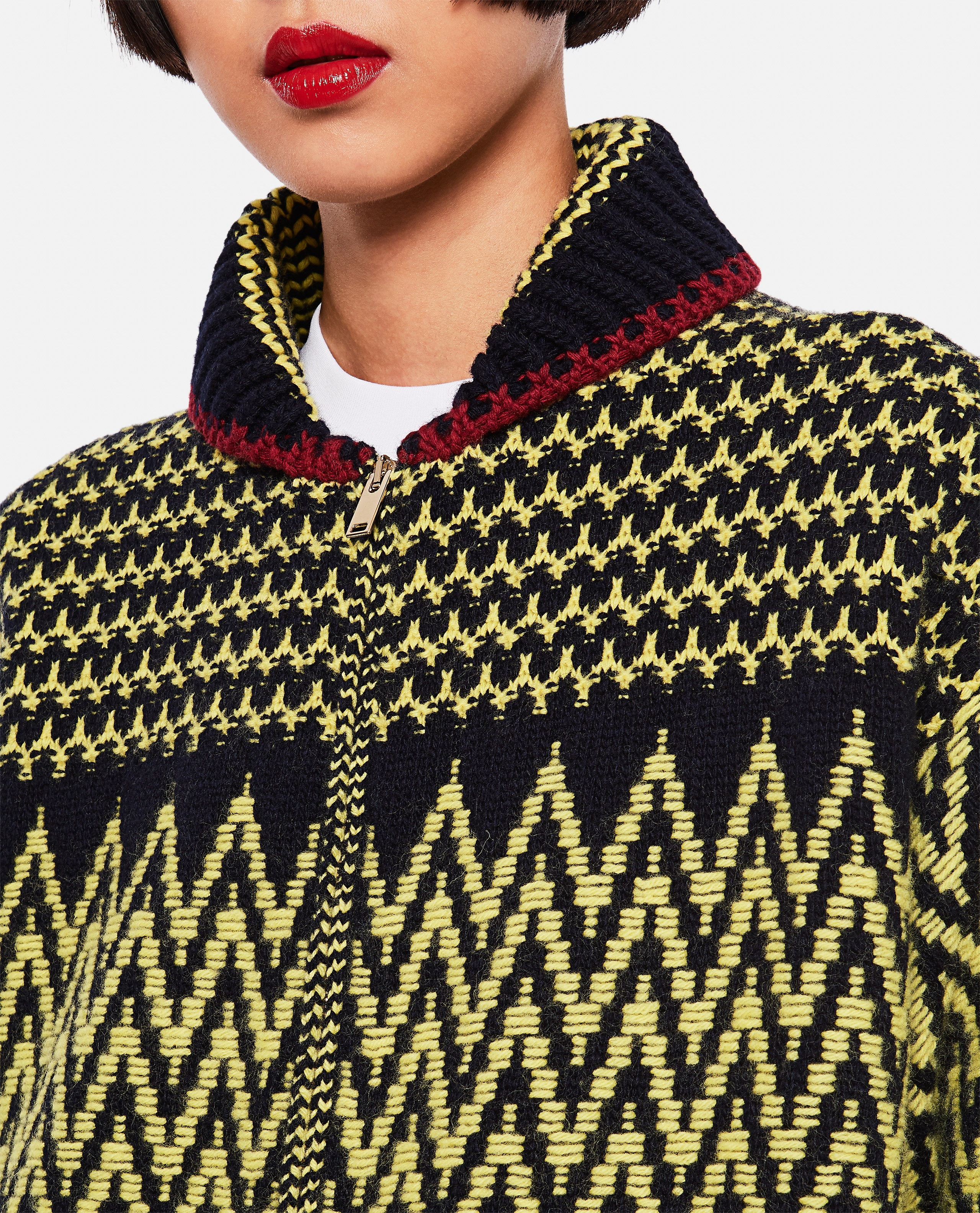 Virgin wool cardigan Women Stella McCartney 000255990037818 4