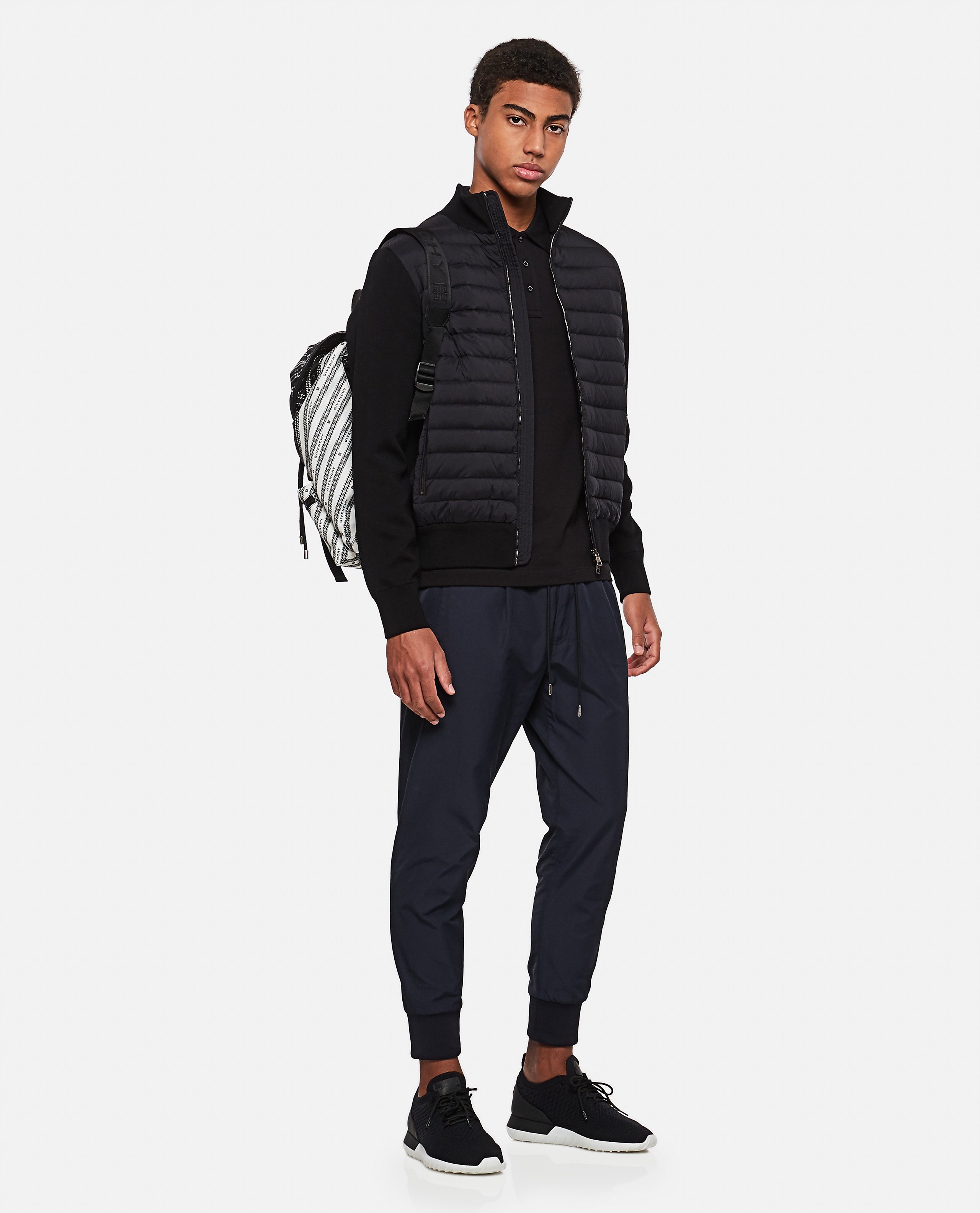 Tricot cardigan with padded detail Men Moncler 000315490046237 2