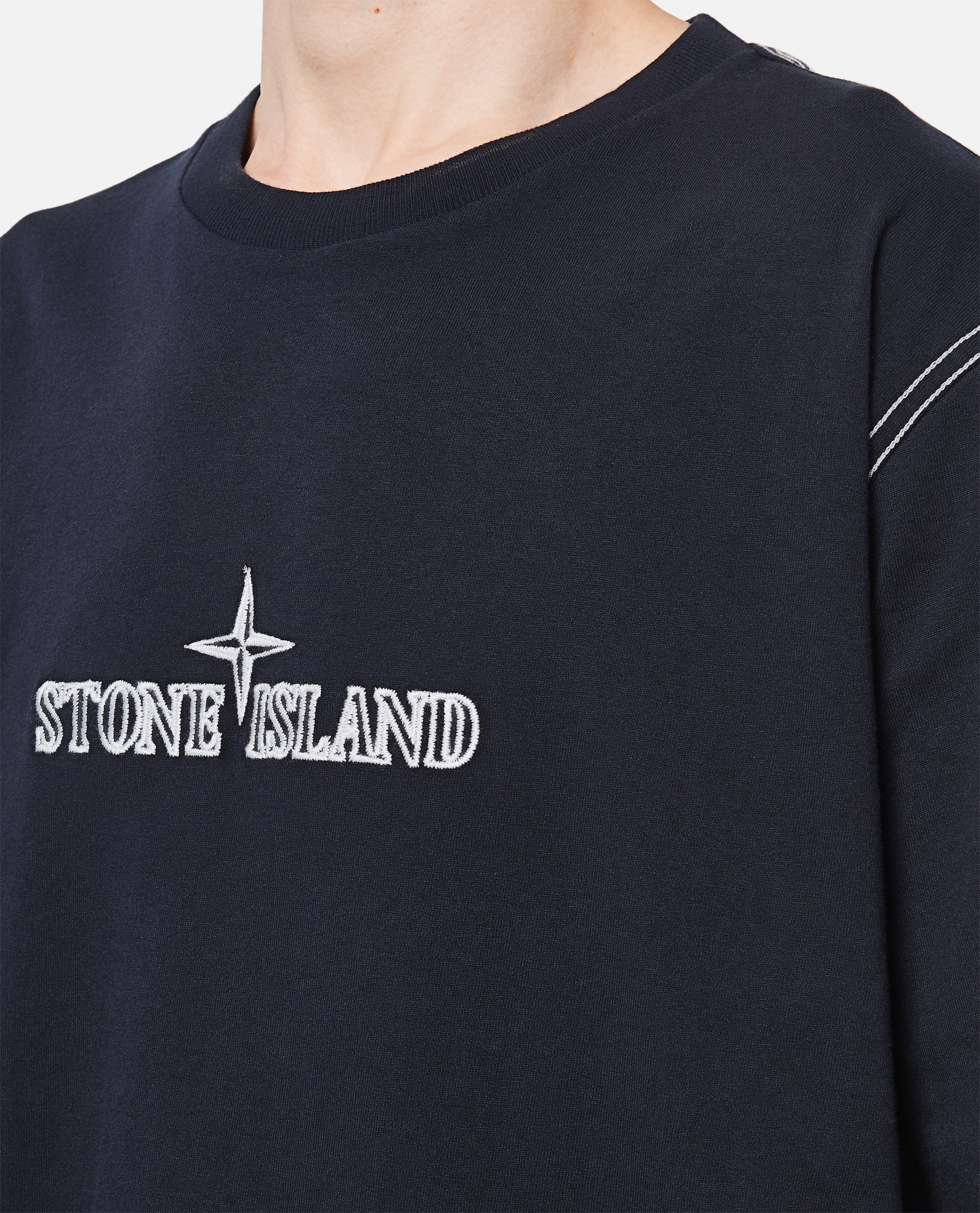Cotton T-Shirt with embroidery Men Stone Island 000292710043107 4