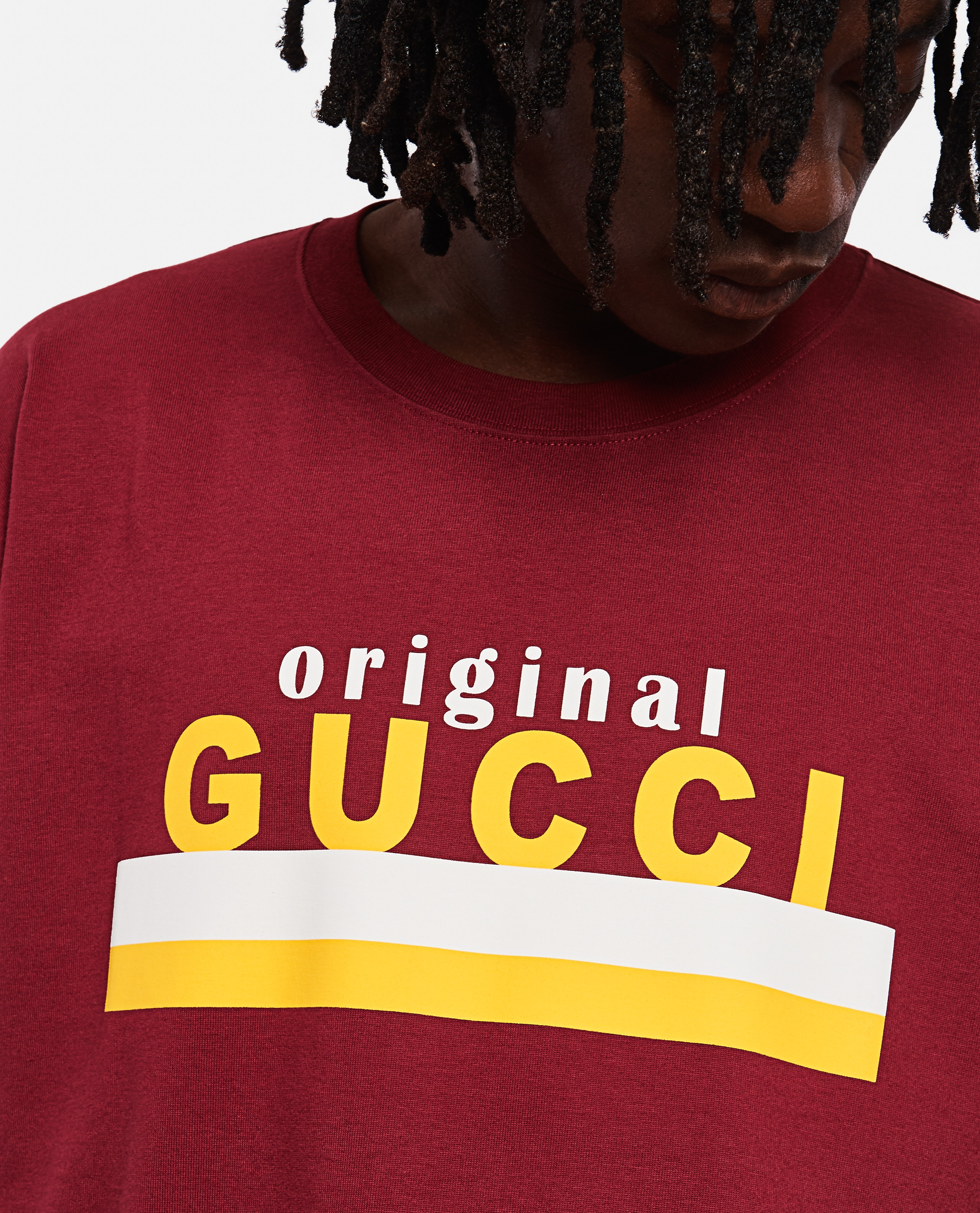 Oversized T-shirt with 'Original Gucci' print Men Gucci 000267580039477 3