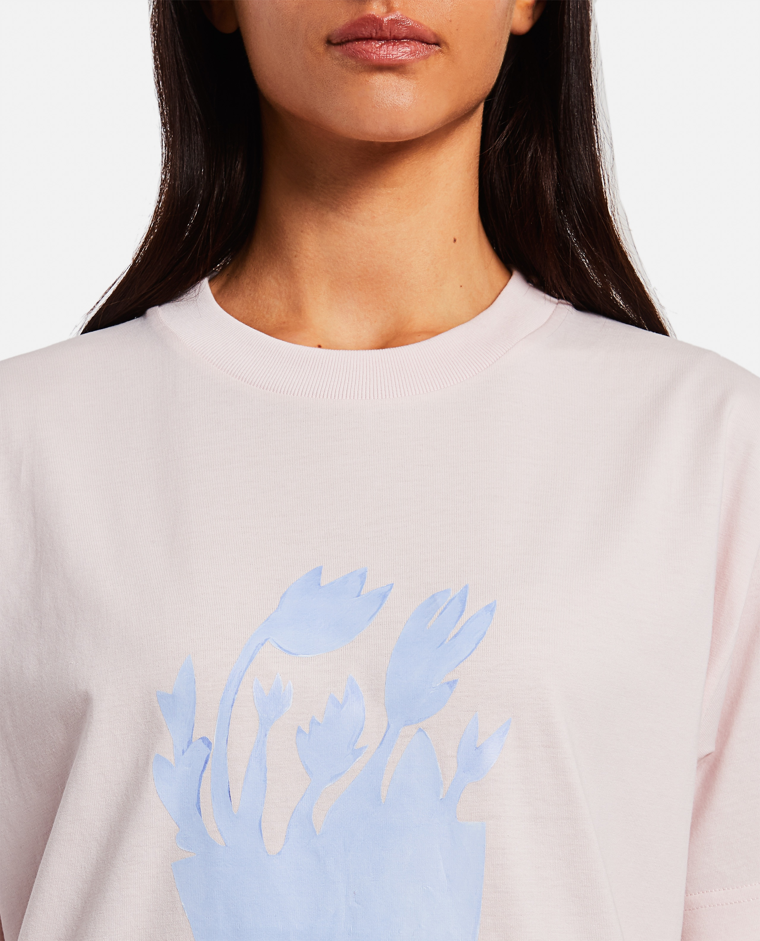 T-shirt in cotone con stampa Donna Jacquemus 000302340044402 4