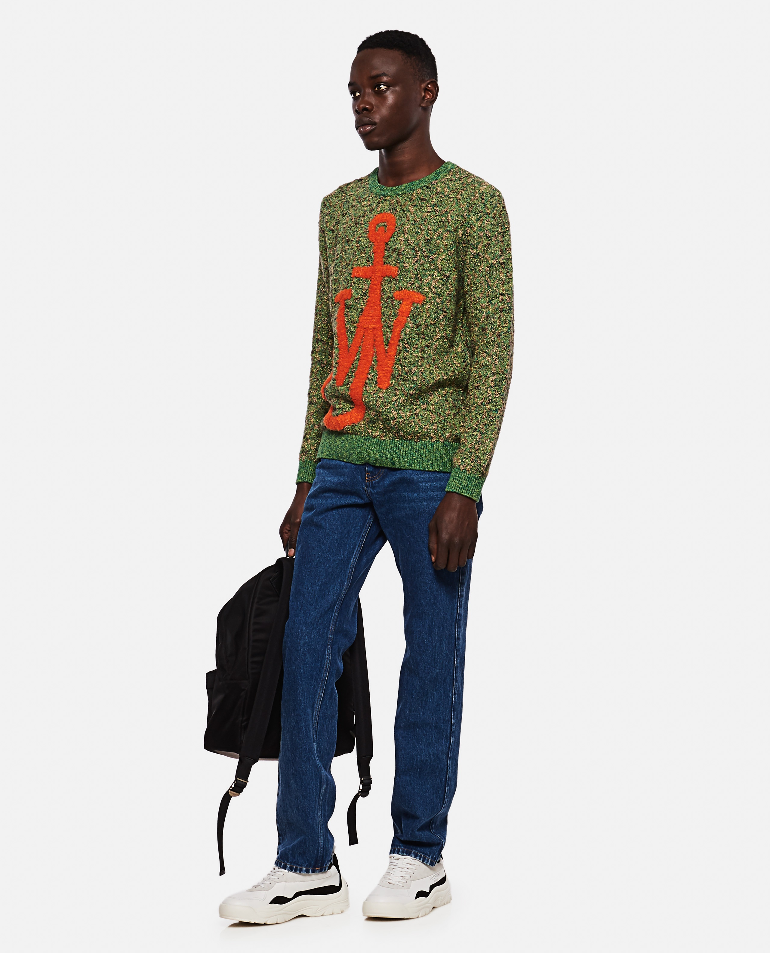 Knitted pullover with inlaid Anchor motif Men J.W. Anderson 000293170043180 2