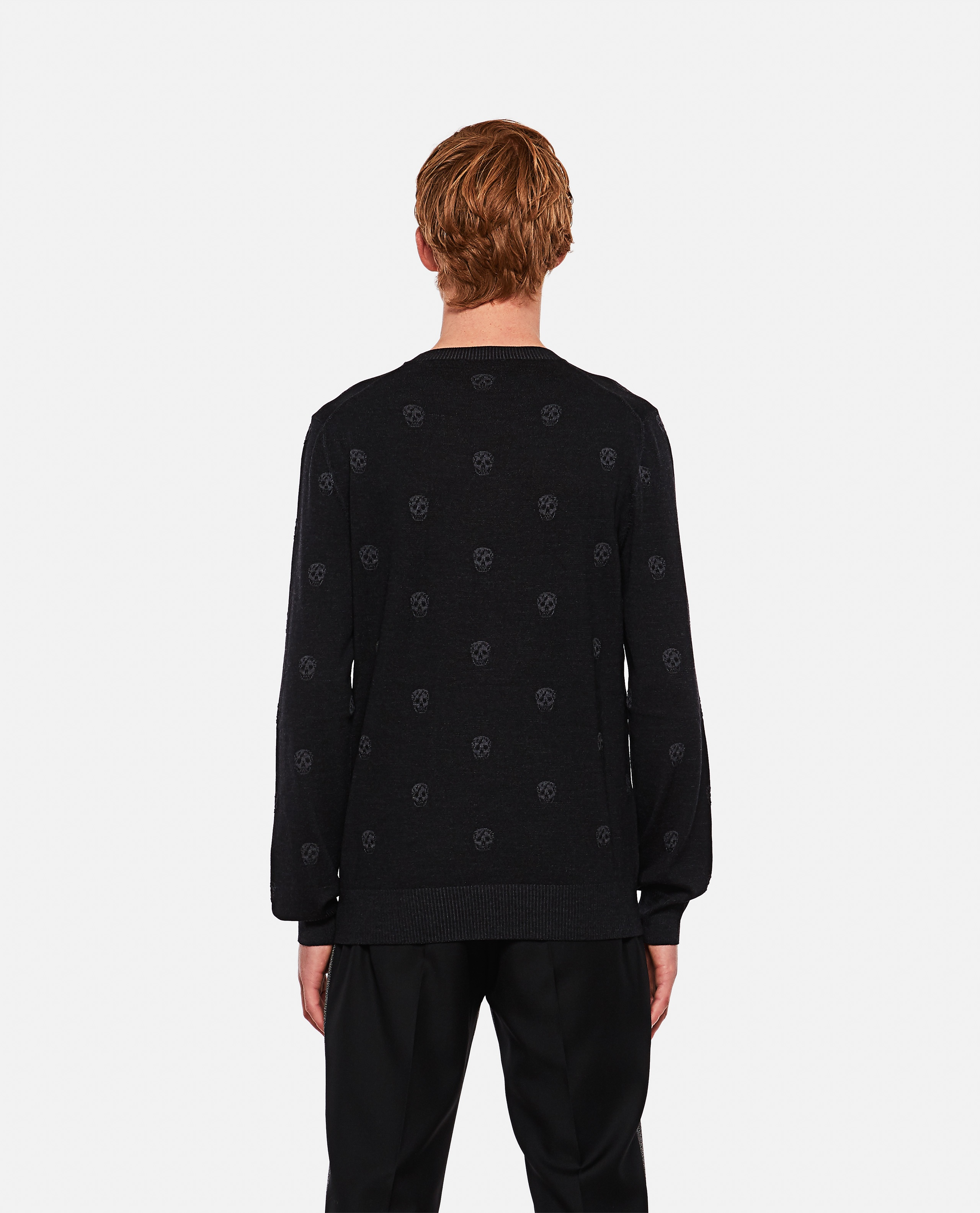 Sweater with multiple skulls Men Alexander McQueen 000291030042846 3