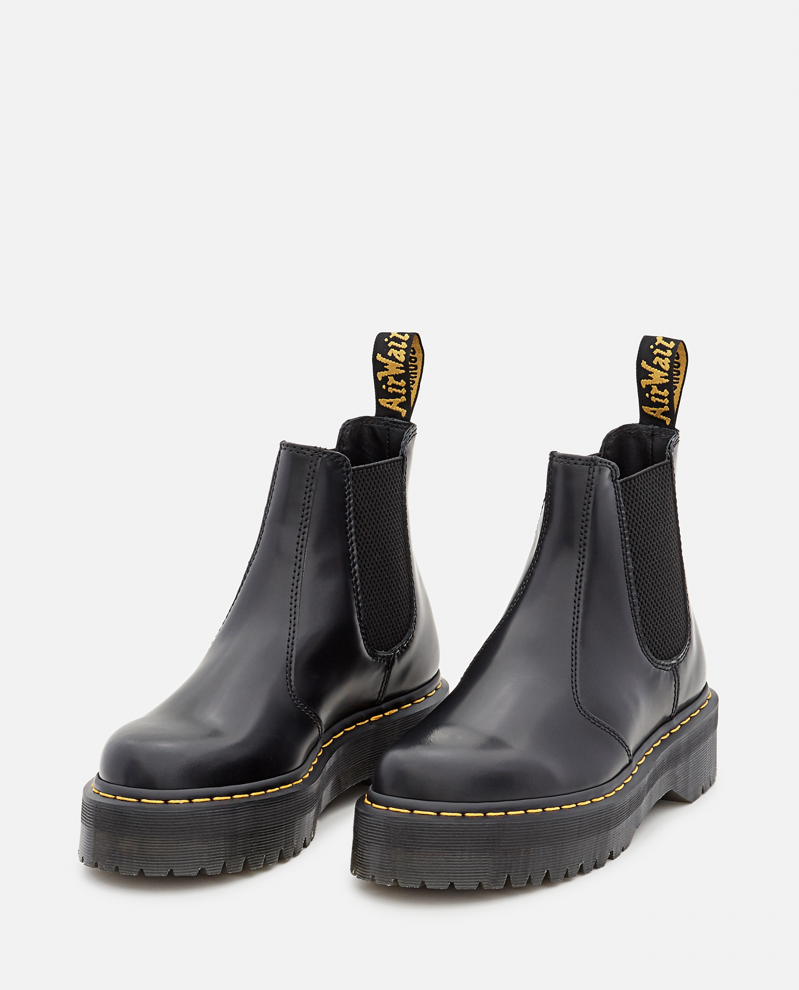 2976 QUAD POLISHED SMOOTH LEATHER CHELSEA BOOTS Women Dr. Martens 000356240051848 2