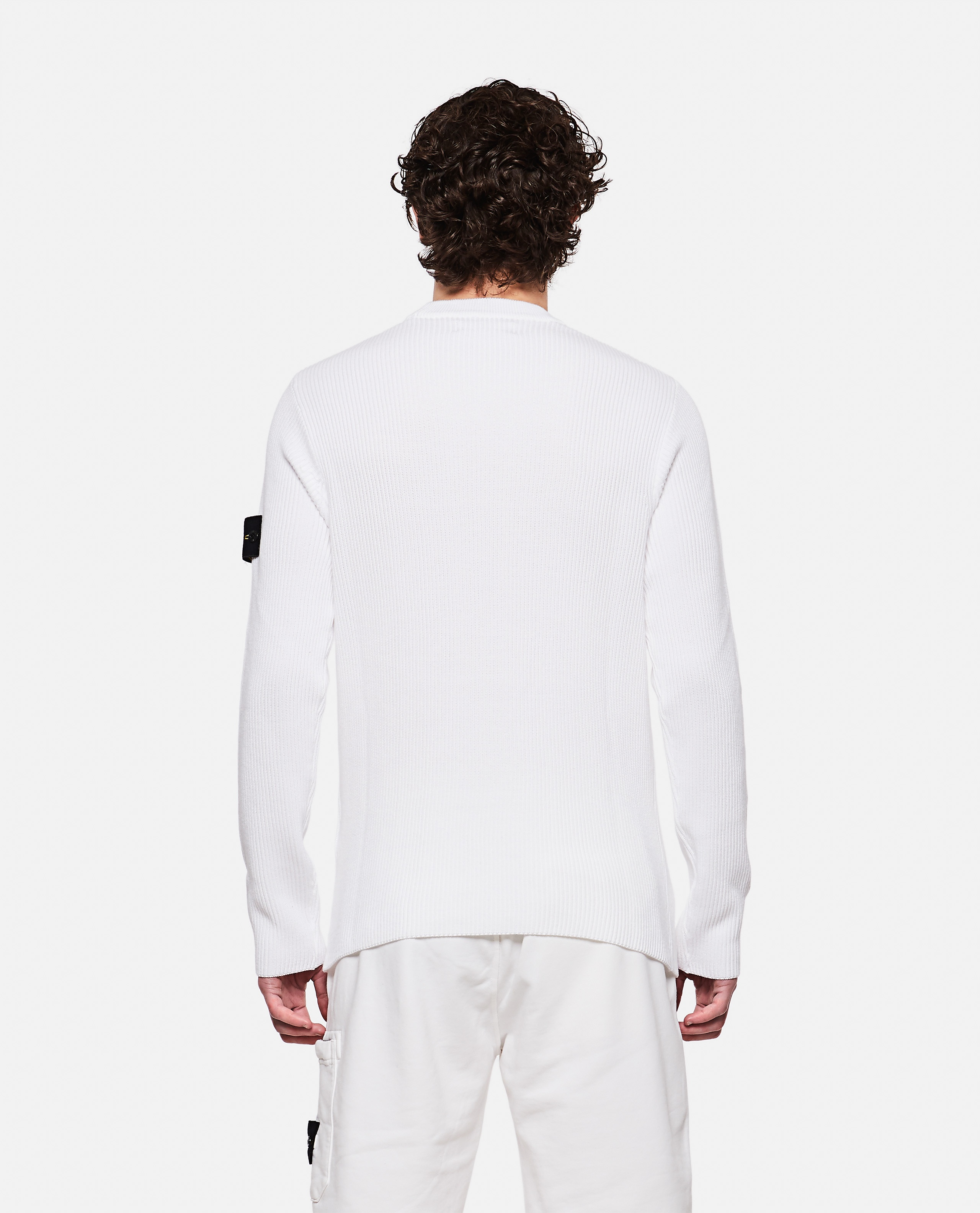 Sweater with logo patch Men Stone Island 000292760043117 3