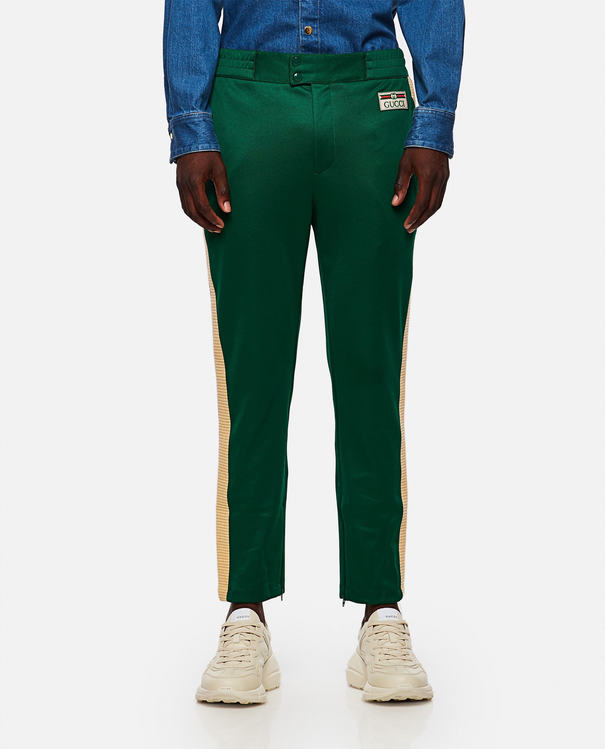 Jogging trousers in technical jersey Men Gucci 000267620039483 1