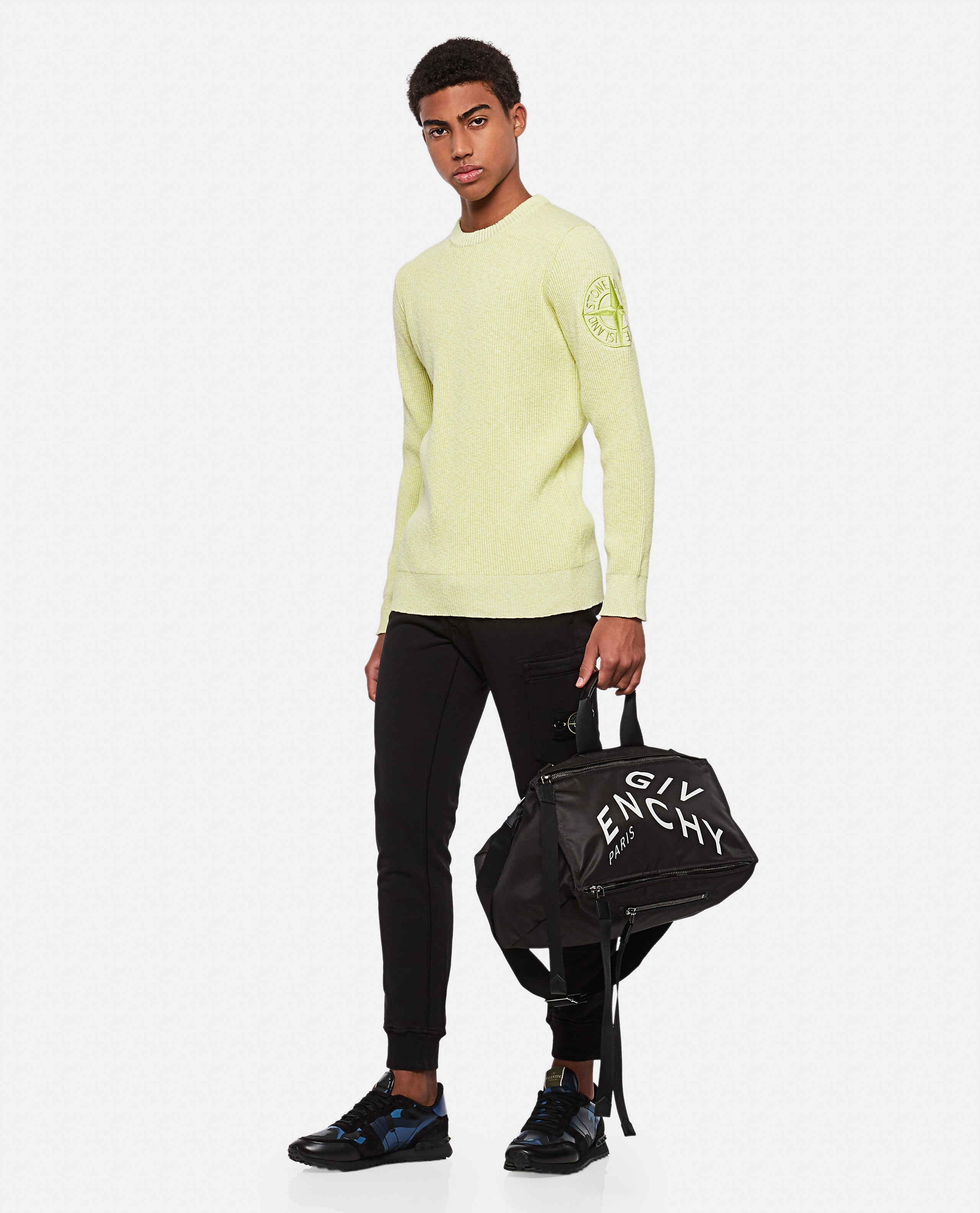Ribbed sweater with logo patch Men Stone Island 000292750043124 2
