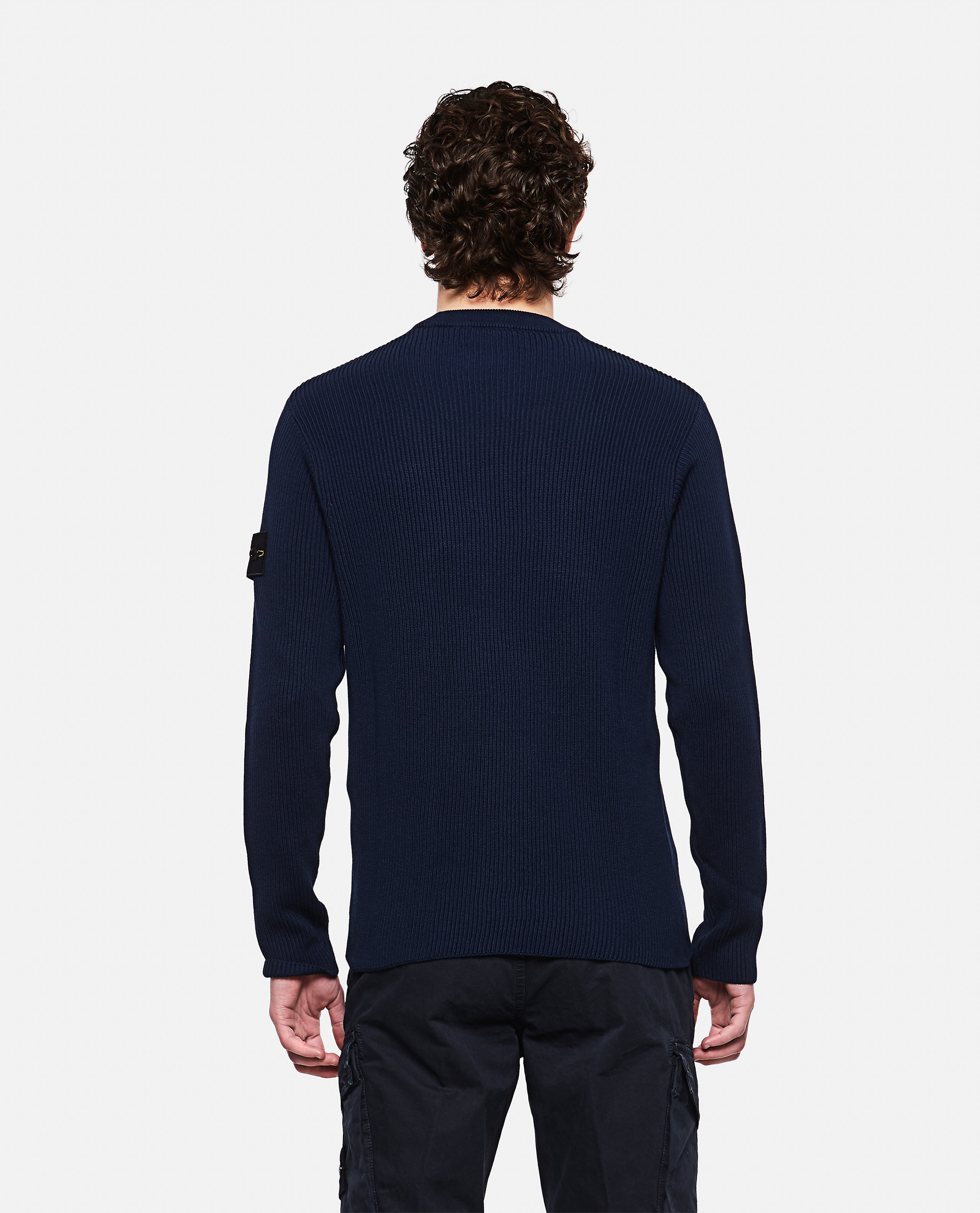 Sweater with logo patch Men Stone Island 000292760043118 3