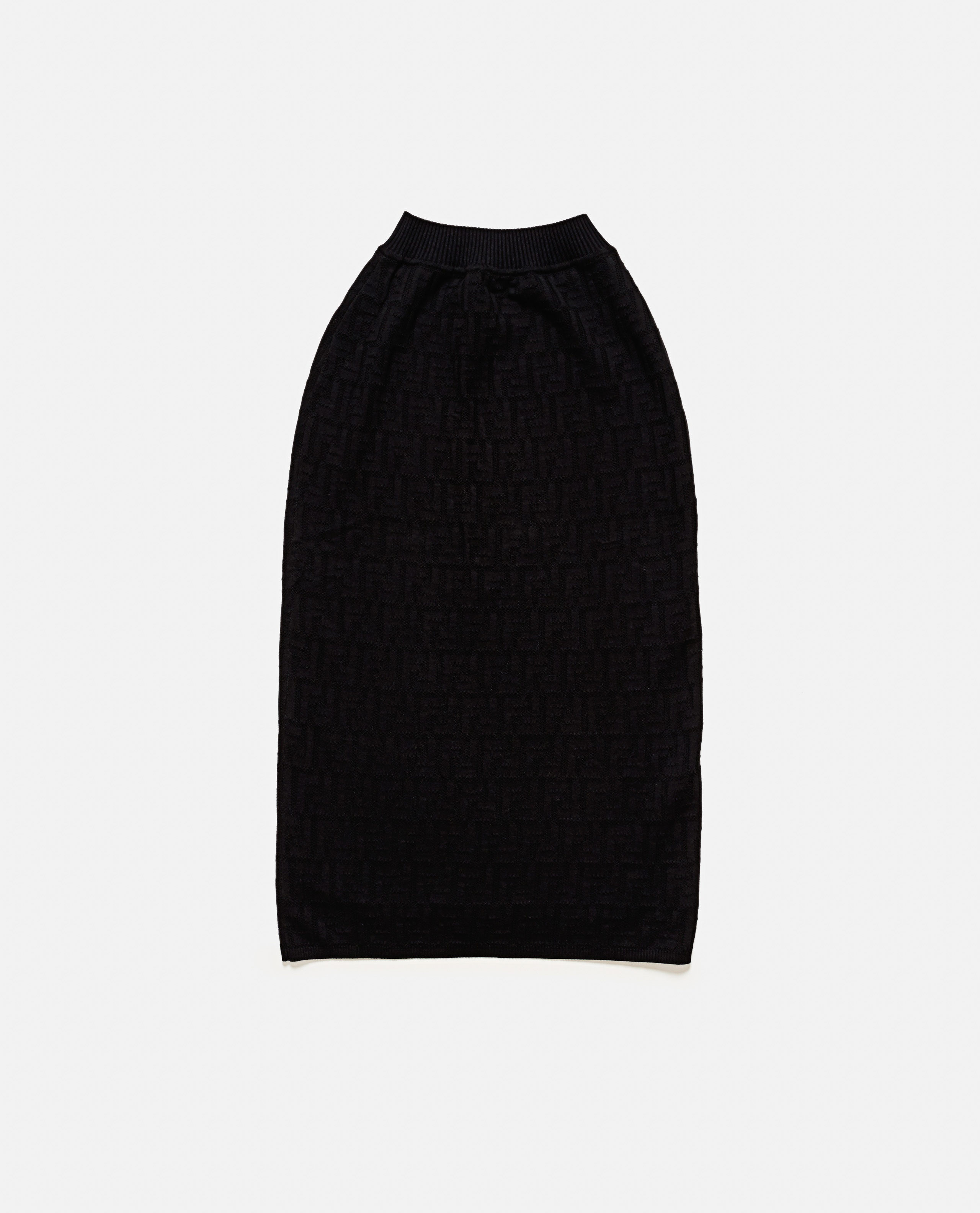 Knitted Skirt With Ff Motif Women Fendi 000190250028262 2