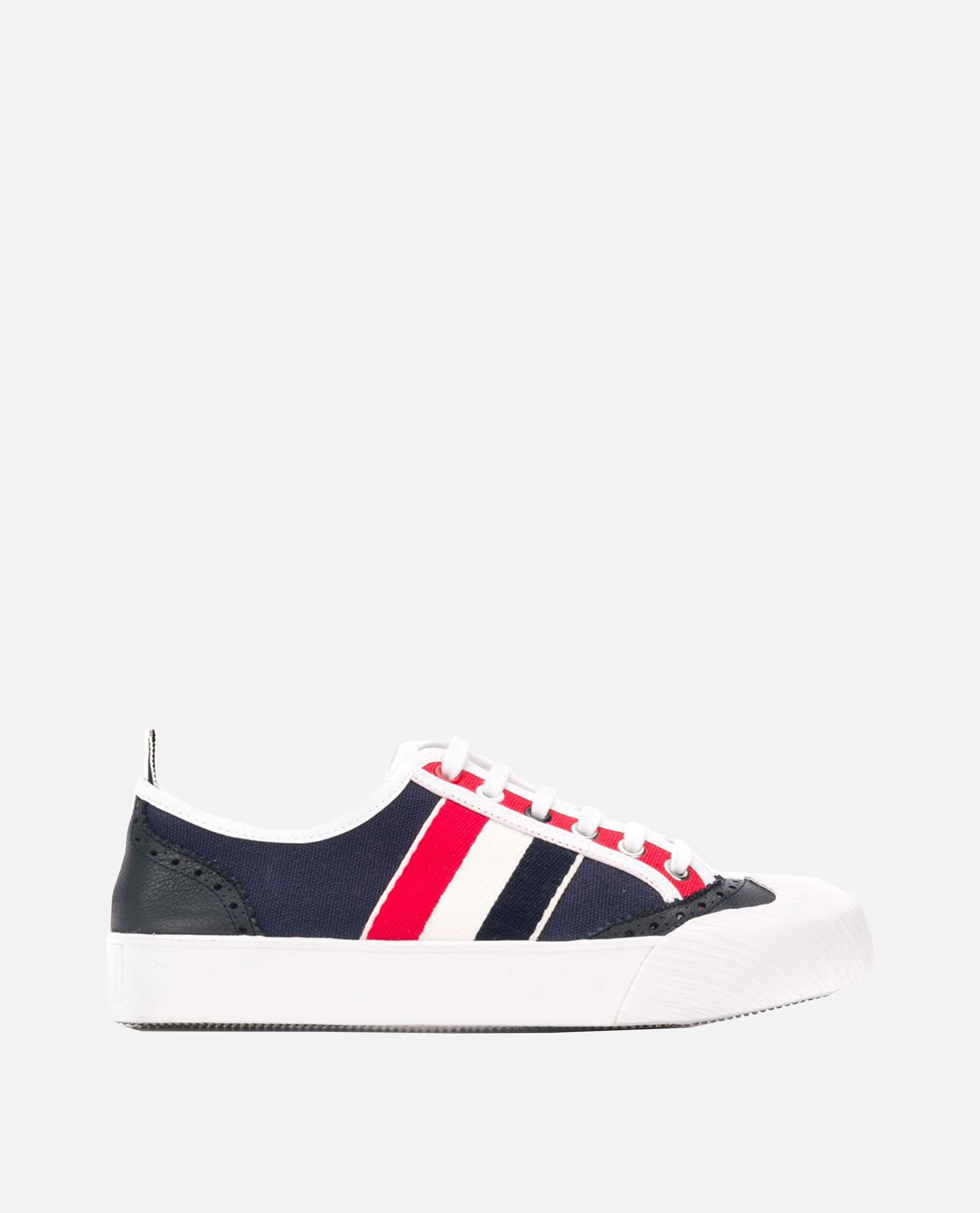 Sneakers con righe Donna Thom Browne 000216130032105 1