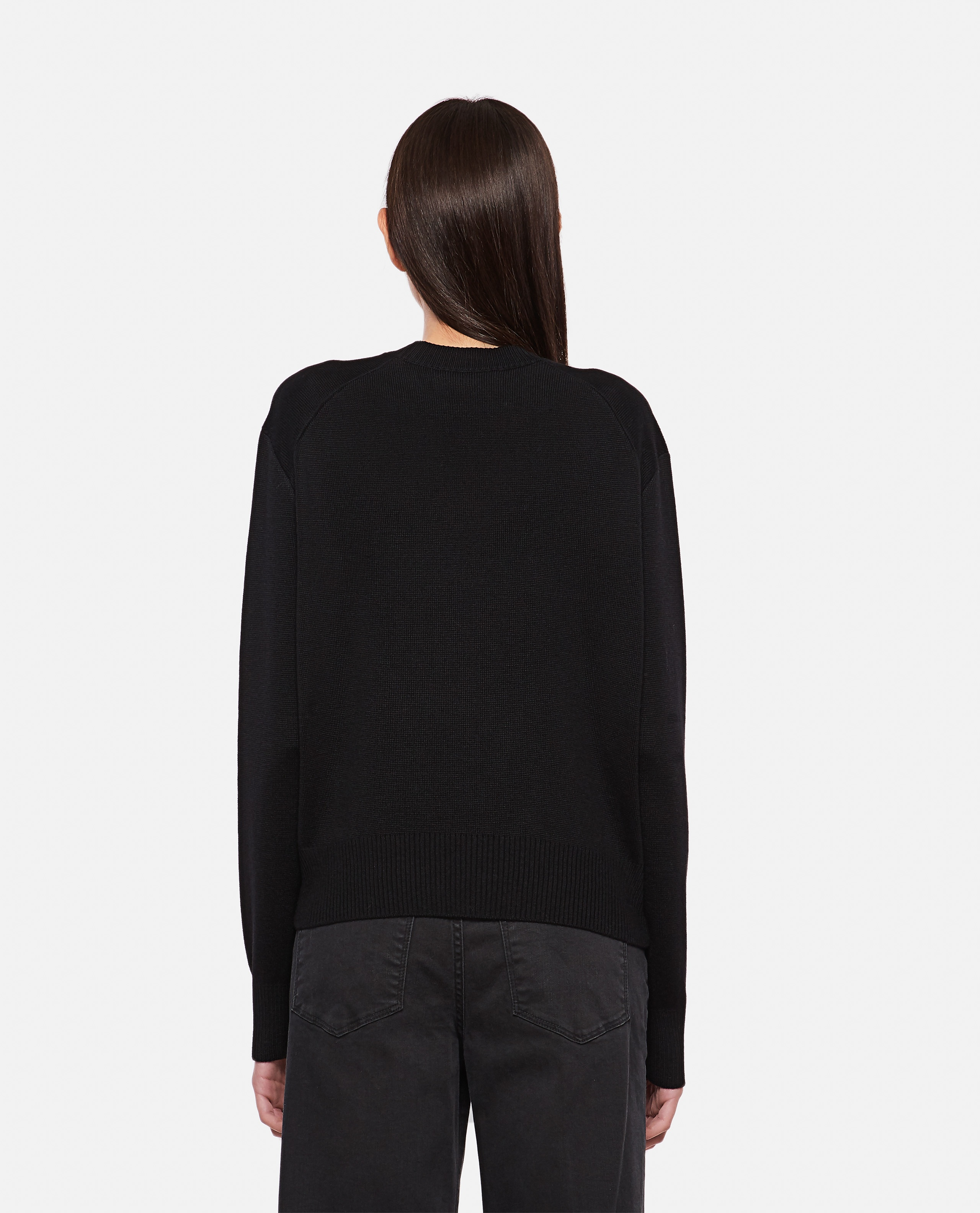 Wool sweater with embroidery Women AMI Paris 000350010050934 3