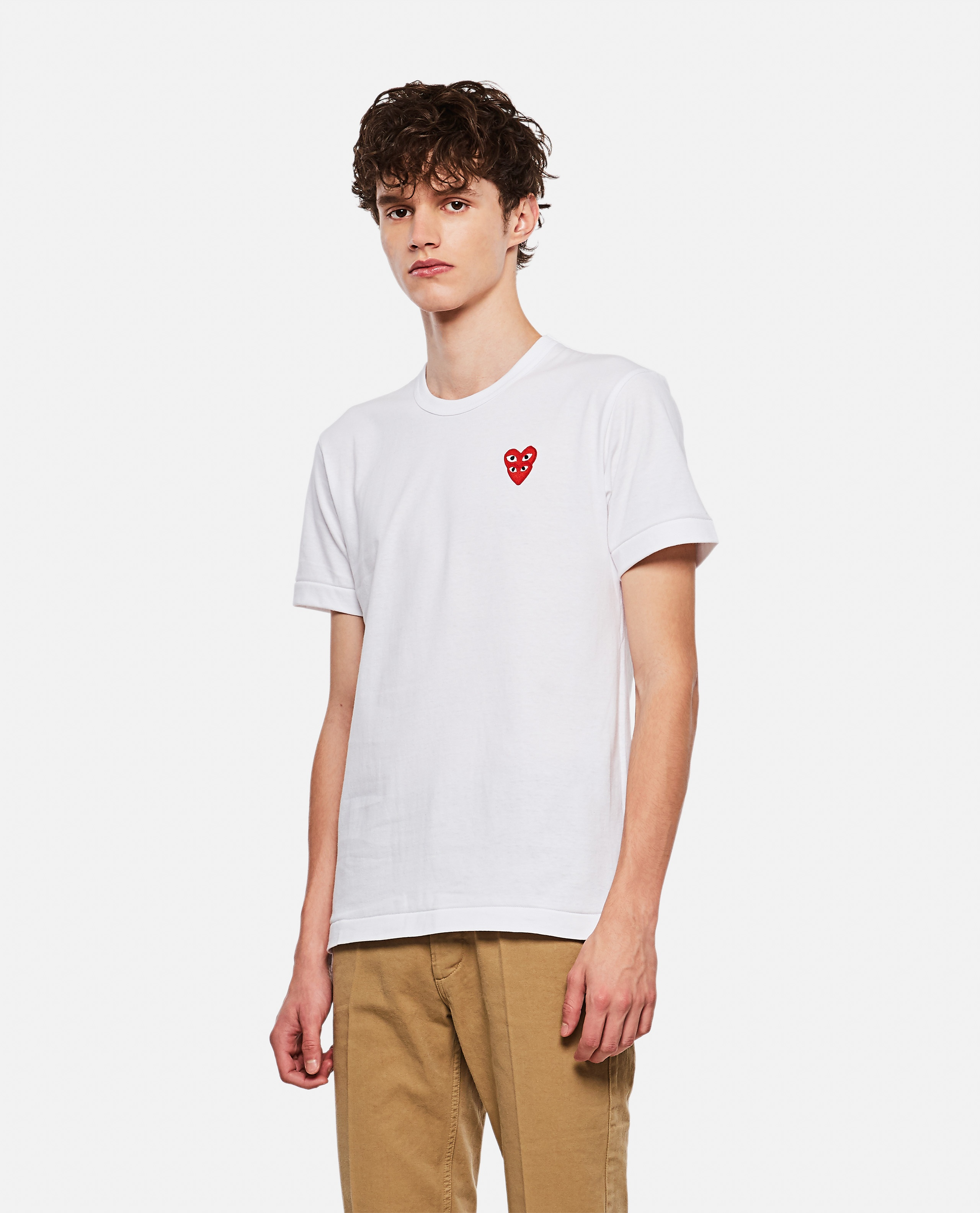 T-shirt with hearts Men Comme des Garcons Play 000267360039451 1