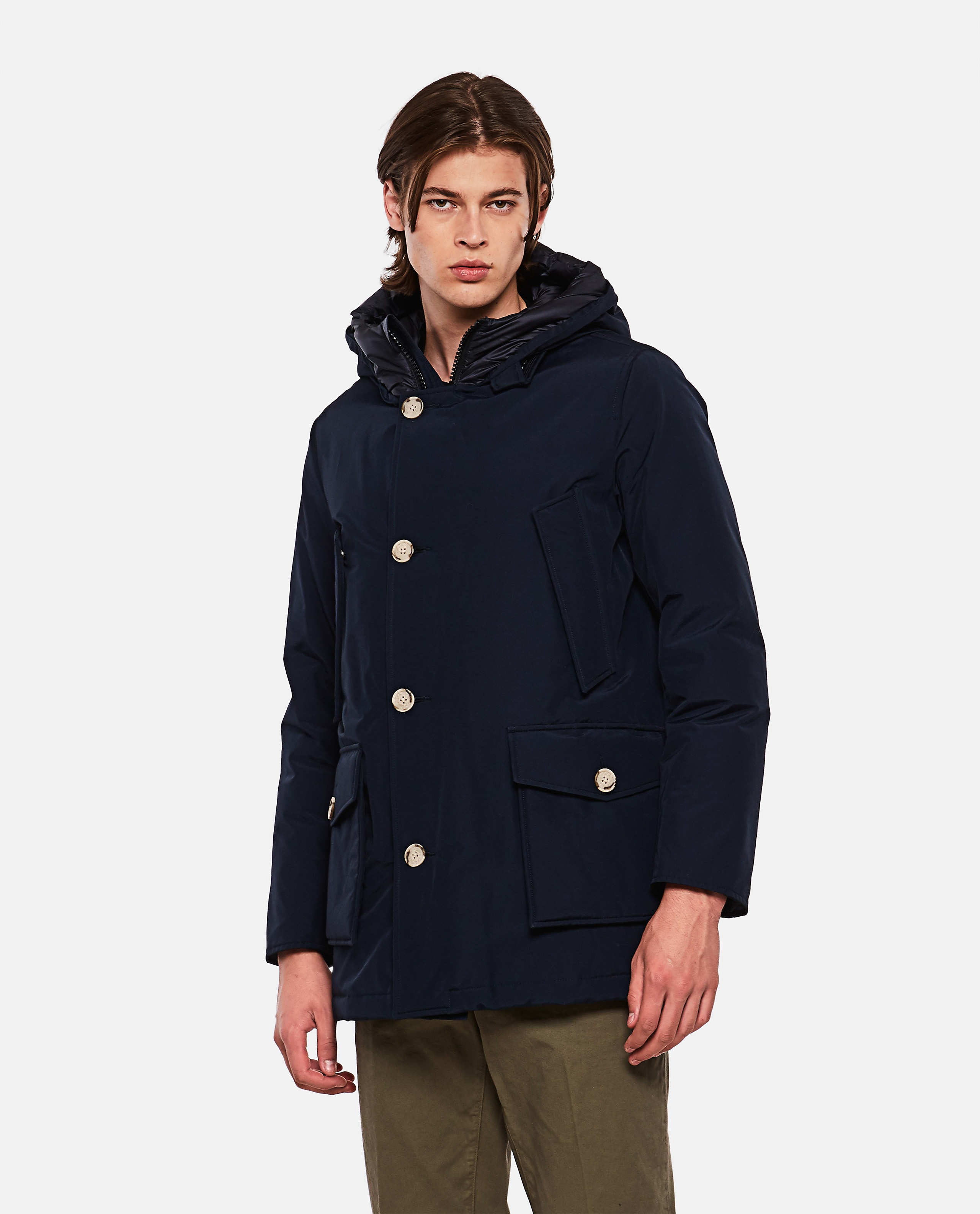 Padded coat with hood  Men Woolrich 000279250041179 1